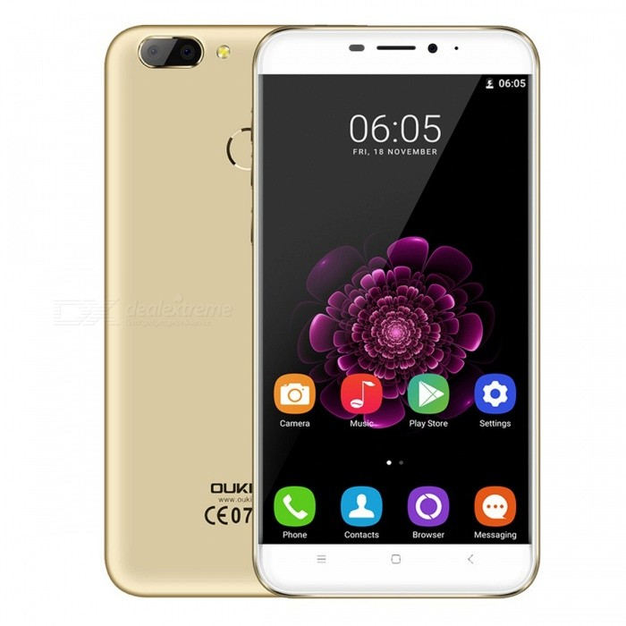 OUKITEL U20 PLUS 5.5 IPS Android 6.0 4G Phone w/ 16GB ROM - GoldenAndroid Phones<br>Form ColorGoldenRAM2GBROM16GBBrandOUKITELModelU20PLUSQuantity1 pieceMaterialPlasticShade Of ColorGoldTypeBrand NewPower AdapterEU PlugHousing Case MaterialPlasticNetwork Type2G,3G,4GBand Details2G: GSM 850/900/1800/1900MHz; 3G: WCDMA 850/1900/2100MHz; 4G: FDD-LTE Band 1/3/7/20(B1:2100, B3:1800, B7:2600, B20:800MHz)Data TransferGPRSWLAN Wi-Fi 802.11 b,g,nSIM Card TypeMicro SIM,Nano SIMSIM Card Quantity2Network StandbyDual Network StandbyGPSYesNFCNoInfrared PortNoBluetooth VersionBluetooth V4.0Operating SystemAndroid 6.0CPU ProcessorMT6737T 1.5GHzCPU Core QuantityQuad-CoreGPUMali-T720LanguageAfrikaans / Indonesian / Malay / Czech / Danish / Germany(German) / Germany (Austria) / English(United Kingdom) / English(United States) / Spanish(Espana) / Spanish(Estados Unidos) / Filipino / French / Croatian / Zulu / Italian / Swahili / Latviesu / Lithuanian / Hungarian / Dutch / Norsk bokmal / Polish / Portuguese(Brasil) / Portuguese(Portugal) / Romanian / Rumantsch / Slovak / Slovenscina / Finnish / Swedish / Vietnamese / Turkish / Russian / Greek / Hebrew / Arabic / Hindi / Thai / Korean / Simplified Chinese / Traditional ChineseAvailable MemoryN/AMemory CardTFMax. Expansion Supported128GBSize Range5.5 inches &amp; OverTouch Screen TypeIPSScreen Resolution1920*1080Multitouch5Screen Size ( inches)5.5Screen Edge2.5D Curved EdgeCamera PixelOthers,13.0MP+3.0MPFront Camera Pixels5.0 MPFlashYesAuto FocusyesTouch FocusYesTalk Time600 minutesStandby Time86 hoursBattery Capacity3300 mAhBattery ModeNon-removablefeaturesWi-Fi,GPS,FM,BluetoothSensorOthers,Gravity Induction Distance Sensor light sensor Press fingerprint sensorWaterproof LevelIPX0 (Not Protected)Shock-proofNoI/O InterfaceMicro USBFormat SupportedAVI / MP4 / 3GP / MOV / MKV / FLV / FLAC / APE / MP3 / OGG / AMR / AACJAVANoRadio TunerFMOther Features5.5 FHD IPS + Dual Network Standby + Android 6.0 + 2GB RAM + 16GB ROM + Wi-Fi + GPS + FM + OTA + 13.0MP camera + 5.0MP secondary camera + Gesture control  + 3300mAh battery +Press fingerprint sensor + Dual ID  + Quad CoreReference Websites== Will this mobile phone work with a certain mobile carrier of yours? ==Packing List1 x Mobile phone1 x Data cable1 x Charger1 x English user manual1 x Warranty card<br>