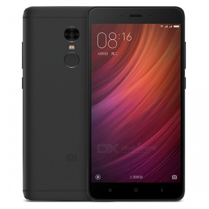 Xiaomi Redmi Note 4 5.5 Phone w/ 4GB RAM + 64GB ROM - Black (Global Version)Android Phones<br>Form  ColorBlackRAM4GBROM64GBBrandXiaomiModelNote 4 (Global Version)Quantity1 setMaterialMetal + GlassShade Of ColorBlackTypeBrand NewPower AdapterUK PlugHousing Case MaterialMetal + GlassTime of Release2017Network Type2G,3G,4GBand DetailsGSM850/900/1800/1900;  UMTS2100 (B1), UMTS1900 (B2), UMTS850 (B5), UMTS900 (B8); LTE1800 (B3), LTE850 (B5), TD-LTE2300 (B40)Data TransferGPRS,HSDPA,EDGE,LTE,HSUPAWLAN Wi-Fi 802.11 a,b,g,n,acSIM Card TypeMicro SIM,Nano SIMSIM Card Quantity2Network StandbyDual Network StandbyGPSYes,A-GPSBluetooth VersionBluetooth V4.1Operating SystemOthers,MIUI 8CPU ProcessorSnapdragon 625 Processor (Updated in Jan, 2017)CPU Core QuantityOcta-CoreLanguageNot SpecifyAvailable Memory64GBSize Range5.5 inches &amp; OverTouch Screen TypeCapacitive ScreenScreen Resolution1920*1080MultitouchOthers,YesScreen Size ( inches)5.5Screen Edge2.5D Curved EdgeCamera Pixel13.0MPFront Camera Pixels5.0 MPVideo Recording Resolution1920 x 1080 pixel, 30 fpsFlashYesAuto FocusPD AFTouch FocusYesOther Camera FunctionsHDR photo,HDR video, Red-eye reduction, Slow motion video, Macro mode, Panorama Photo, Face detection, Face retouchTalk TimeN/A hourStandby TimeN/A hourBattery Capacity4100 mAhBattery ModeNon-removablefeaturesWi-Fi,GPS,Bluetooth,OTGSensorProximity,Compass,Accelerometer,Fingerprint authentication sensor,Others,Gesture sensor, Hall sensor, Light sensor, GyroscopeWaterproof LevelIPX0 (Not Protected)I/O InterfaceOTG,Others,USB Micro-ABJAVANoTV TunerNoReference Websites== Will this mobile phone work with a certain mobile carrier of yours? ==Packing List1 x Cell Phone1 x Power Adapter (EU plug)1 x USB Charging Cable1 x User Manual<br>