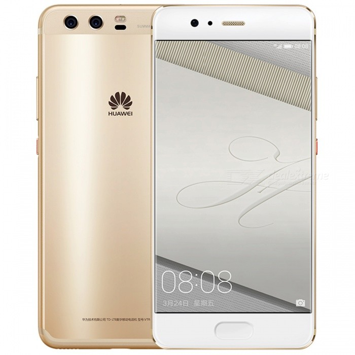Huawei P10 AL00 5.1 Dual SIM 4G Phone w/ 4+64GB - GoldenAndroid Phones<br>Form  ColorGoldenRAM4GBROM64GBBrandHUAWEIModelP10Quantity1 pieceMaterialMetal + GlassShade Of ColorGoldTypeBrand NewPower AdapterOthers,2-Flat-Pin PlugNetwork Type2G,3G,4GBand DetailsGSM 850/900/1800/1900MHz;  UMTS 2100/1900/(1700/2100)/850/800(B6)/900/800(B19)MHz;  CDMA 800MHz;  TD-SCDMA 2000/1900MHz;  LTE 2100/1900/1800/(1700/2100)/850(B5)/2600/900/(1700/1800)/700(B12)/700(B17)/800(B18)/800(B19)/800(B20)/850(B26)MHz;  TD-LTE 2600/1900/2300/2500MHzData TransferGPRS,HSDPA,LTE,HSUPAWLAN Wi-Fi 802.11 a,b,g,n,ac,Others,dual-band, DLNA, WiFi Direct, hotspotSIM Card TypeNano SIMSIM Card Quantity2Network StandbyDual Network StandbyGPSYes,A-GPS,BDS,GLONASS,GALILEONFCYesBluetooth VersionBluetooth V4.2,Others,A2DP, LEOperating SystemOthers,Google Android 7.0 (Nougat), EMUI 5.1CPU ProcessorHiSilicon Honor KIRIN960 Hi3660, 2016, 64 bit, Octa-core 2.36GHz, 64 Kbyte I-Cache, 64 Kbyte D-Cache, 16 nmCPU Core QuantityOcta-CoreGPUARM Mail-G71 GPULanguageN/AAvailable MemoryN/AMemory CardMicroSDMax. Expansion Supported256GBSize Range5.0~5.4 inchesTouch Screen TypeCapacitive ScreenScreen Resolution1920*1080Screen Size ( inches)Others,5.1 inchCamera PixelOthers,Dual 20 MP + 12 MPFront Camera Pixels8 MPVideo Recording Resolution2160p@30fps, 1080p@60fpsFlashYesAuto FocusYesTouch FocusYesOther Camera FunctionsPrimary camera: Dual 20 MP + 12 MP, f/2.2, OIS, Leica optics, phase detection and laser autofocus, dual-LED (dual tone) flash; <br>Features: Geo-tagging, touch focus, face detection, HDR, panorama; <br>Secondary camera: 8 MP, f/1.9Talk Time32 hoursStandby Time408 hoursBattery Capacity3200 mAhBattery ModeNon-removablefeaturesWi-Fi,GPS,FM,Bluetooth,NFC,OTGSensorProximity,Compass,Accelerometer,Fingerprint authentication sensor,Others,Gyro, Hall sensor, Light sensorWaterproof LevelIPX0 (Not Protected)I/O InterfaceUSB Type-c,Others,Type-C 1.0 reversible connectorFormat Supportedavi, mkv, mp4, 3gp; mp3, amr, mid, wav; jpg,png, gif, bmp; txt, doc, pdfJAVANoRadio TunerFMReference Websites== Will this mobile phone work with a certain mobile carrier of yours? ==Form  ColorGoldenRAM4GBROM64GBPacking List1 x Huawei P10 AL00 Smart Phone1 x Power supply1 x Type-C charging cable1 x SIM tool1 x User manual<br>