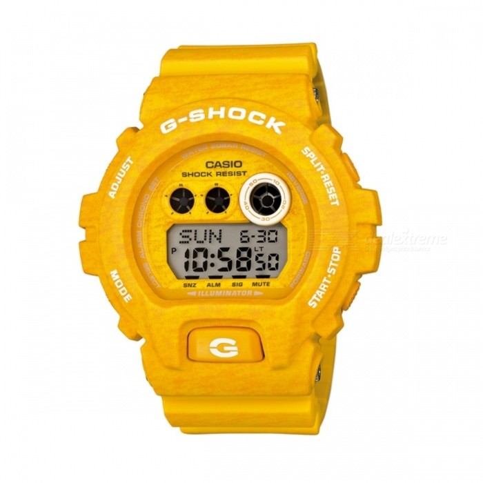 Casio G-Shock GD-X6900HT-9Sport Watches<br>Form  ColorYellowModelGD-X6900HT-9Quantity1 DX.PCM.Model.AttributeModel.UnitShade Of ColorYellowCasing MaterialResinWristband MaterialResinSuitable forAdultsGenderUnisexStyleWrist WatchTypeCasual watchesDisplayDigitalMovementQuartzDisplay Format12/24 hour time formatWater ResistantOthers,200 meter water resistanceDial Diameter5.39 DX.PCM.Model.AttributeModel.UnitDial Thickness2.04 DX.PCM.Model.AttributeModel.UnitWristband Length22 DX.PCM.Model.AttributeModel.UnitBand Width2.5 DX.PCM.Model.AttributeModel.UnitBatteryCoin Cell BatteryPacking List1 x GD-X6900HT-9<br>