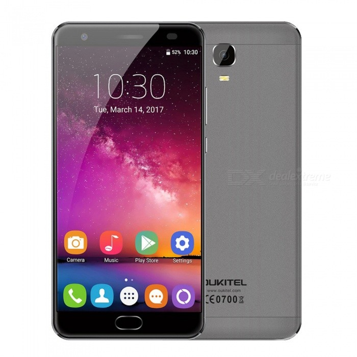 OUKITEL K6000 Plus 5.5 Octa-core 4G Phone w/ 4GB RAM 64GB ROM - GrayAndroid Phones<br>Form Color GrayRAM4GBROM64GBBrandOUKITELModelK6000 PlusQuantity1 setMaterialAluminium alloyShade Of ColorGrayTypeBrand NewPower AdapterEU PlugHousing Case MaterialAluminium alloyNetwork Type2G,3G,4GBand Details2G: GSM 850/900/1800/1900MHz; 3G: WCDMA 900/2100MHz; 4G: FDD-LTE Band 1/3/7/20(B1:2100, B3:1800, B7:2600, B20:800MHz)Data TransferGPRS,HSDPA,EDGE,LTE,HSUPAWLAN Wi-Fi 802.11 b,g,nSIM Card TypeNano SIMSIM Card Quantity2Network StandbyDual Network StandbyGPSYes,A-GPSBluetooth VersionBluetooth V4.0Operating SystemOthers,Android 7.0CPU ProcessorMTK 6750T 1.5GHzCPU Core QuantityOcta-CoreGPUMali-T860LanguageAfrikaans, Indonesian, Malay, Czech, Danish, Germany(German), Germany (Austria), English(United Kingdom), English(United States), Spanish(Espana), Spanish(Estados Unidos), Filipino, French, Croatian, Zulu, Italian, Swahili, Latviesu, Lithuanian, Hungarian, Dutch, Norsk bokmal, Polish, Portuguese(Brasil), Portuguese(Portugal), Romanian, Rumantsch, Slovak, Slovenscina, Finnish, Swedish, Vietnamese, Turkish, Russian, Greek, Hebrew, Arabic, Hindi, Thai, Korean, Simplified Chinese, Traditional ChineseAvailable Memory54GBMemory CardMicro SDMax. Expansion Supported256GBSize Range5.5 inches &amp; OverTouch Screen TypeYesScreen Resolution1920*1080Multitouch5Screen Size ( inches)5.5Screen Edge2.5D Curved EdgeCamera PixelOthers,16.0MPFront Camera Pixels8.0 MPFlashYesAuto FocusYesTouch FocusYesTalk Time46 hoursStandby Time365 hoursBattery Capacity6080 mAhQuick Charge12V / 2AfeaturesWi-Fi,GPS,Bluetooth,OTGSensorG-sensor,Proximity,Compass,Accelerometer,Fingerprint authentication sensorWaterproof LevelOthers,-I/O InterfaceUSB Type-c,OTGSoftwarePlay Store, E-mail, Gmail, Calculator, File manager, Clock, Calendar, Gallery, Video Player, Music, Sound Recorder, FM Radio, etc.Format SupportedAVI, MP4, 3GP, MOV, MKV, FLV, FLAC, APE, MP3, OGG, AMR, AACJAVANoOther Features5.5 inch FHD AUO IPS + Dual Ne
