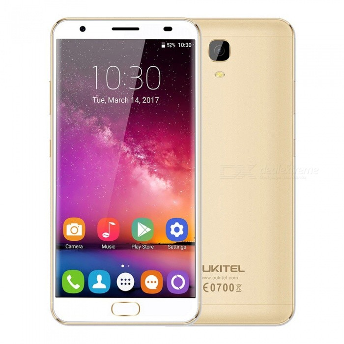 OUKITEL K6000 Plus 5.5 Octa-core 4G Phone w/ 4GB RAM 64GB ROM -GoldenAndroid Phones<br>Form  ColorGoldenRAM4GBROM64GBBrandOUKITELModelK6000 PlusQuantity1 setMaterialAluminium alloyShade Of ColorGoldTypeBrand NewPower AdapterEU PlugHousing Case MaterialAluminium alloyNetwork Type2G,3G,4GBand Details2G: GSM 850/900/1800/1900MHz; 3G: WCDMA 900/2100MHz; 4G: FDD-LTE Band 1/3/7/20(B1:2100, B3:1800, B7:2600, B20:800MHz)Data TransferGPRS,HSDPA,EDGE,LTE,HSUPAWLAN Wi-Fi 802.11 b,g,nSIM Card TypeNano SIMSIM Card Quantity2Network StandbyDual Network StandbyGPSYes,A-GPSBluetooth VersionBluetooth V4.0Operating SystemOthers,Android 7.0CPU ProcessorMTK 6750T 1.5GHzCPU Core QuantityOcta-CoreGPUMali-T860LanguageAfrikaans, Indonesian, Malay, Czech, Danish, Germany(German), Germany (Austria), English(United Kingdom), English(United States), Spanish(Espana), Spanish(Estados Unidos), Filipino, French, Croatian, Zulu, Italian, Swahili, Latviesu, Lithuanian, Hungarian, Dutch, Norsk bokmal, Polish, Portuguese(Brasil), Portuguese(Portugal), Romanian, Rumantsch, Slovak, Slovenscina, Finnish, Swedish, Vietnamese, Turkish, Russian, Greek, Hebrew, Arabic, Hindi, Thai, Korean, Simplified Chinese, Traditional ChineseAvailable Memory54GBMemory CardMicro SDMax. Expansion Supported256GBSize Range5.5 inches &amp; OverTouch Screen TypeYesScreen Resolution1920*1080Multitouch5Screen Size ( inches)5.5Screen Edge2.5D Curved EdgeCamera PixelOthers,16.0MPFront Camera Pixels8 MPFlashYesAuto FocusYesTouch FocusYesTalk Time46 hoursStandby Time365 hoursBattery Capacity6080 mAhQuick Charge12V / 2AfeaturesWi-Fi,GPS,Bluetooth,OTGSensorG-sensor,Proximity,Compass,Accelerometer,Fingerprint authentication sensorWaterproof LevelOthers,-I/O InterfaceUSB Type-c,OTGSoftwarePlay Store, E-mail, Gmail, Calculator, File manager, Clock, Calendar, Gallery, Video Player, Music, Sound Recorder, FM Radio, etc.Format SupportedAVI, MP4, 3GP, MOV, MKV, FLV, FLAC, APE, MP3, OGG, AMR, AACJAVANoTV TunerNoOther Features5.5 inch FHD AUO IP