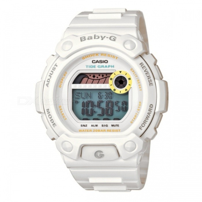 Casio Baby-G G-LIDE Multi-alarm BLX-102-7Sport Watches<br>Form  ColorWhiteModelBLX-102-7Quantity1 DX.PCM.Model.AttributeModel.UnitCasing MaterialResinWristband MaterialResinDial Diameter4.2 DX.PCM.Model.AttributeModel.UnitDial Thickness1.36 DX.PCM.Model.AttributeModel.UnitWristband Length21 DX.PCM.Model.AttributeModel.UnitBand Width2 DX.PCM.Model.AttributeModel.UnitBattery3 years with a coin-cell battery CR1616Packing List1 x BLX-102-7DR<br>