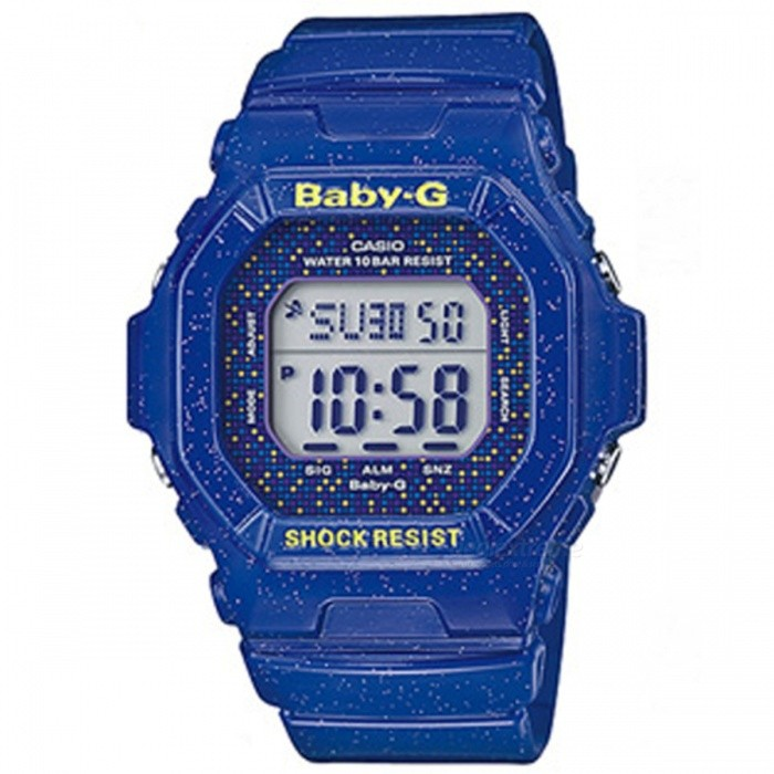 Casio Baby-G Digital Watch BG-5600GL-2 - BlueSport Watches<br>Form  ColorBlueModelBG-5600GL-2Quantity1 DX.PCM.Model.AttributeModel.UnitShade Of ColorBlueCasing MaterialResinWristband MaterialResinSuitable forAdultsStyleWrist WatchDisplayAnalogMovementDigitalDisplay Format12/24 hour time formatWater ResistantWater Resistant 10 ATM or 100 m. Suitable for recreational surfing, swimming, snorkeling, sailing and water sports.Dial Diameter4.3 DX.PCM.Model.AttributeModel.UnitDial Thickness1.58 DX.PCM.Model.AttributeModel.UnitWristband Length21 DX.PCM.Model.AttributeModel.UnitBand Width2 DX.PCM.Model.AttributeModel.UnitBattery2 years on SR726W ? 2Packing List1 x BG-5600GL-2DR<br>
