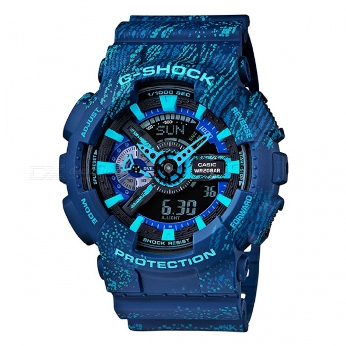 Casio G-Shock GA-110TX-2ASport Watches<br>Form  ColorBlueModelGA-110TX-2AQuantity1 DX.PCM.Model.AttributeModel.UnitCasing MaterialresinWristband MaterialresinDial Diameter5.12 DX.PCM.Model.AttributeModel.UnitDial Thickness1.69 DX.PCM.Model.AttributeModel.UnitWristband Length22 DX.PCM.Model.AttributeModel.UnitBand Width2.5 DX.PCM.Model.AttributeModel.UnitBatteryCoin Cell BatteryPacking List1 x GA-110TX-2A<br>