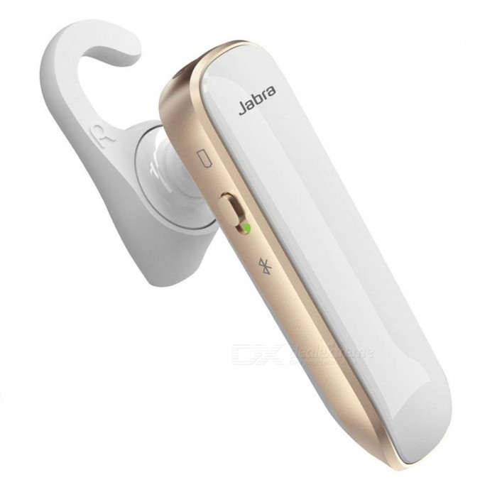 Jabra Boost Headset - GoldOther Bluetooth Devices<br>Form Color White + GoldenModelBoostMaterialPC,PC+ABS,silicon rubber,PP,TPEQuantity1 setShade Of ColorGoldOperating Range30 metersStandby Time9 hoursCertificationBluetooth 4.0, CE, FCC, IC, GOST, RoHS, REACHPacking List1 x Jabra Boost headset1 x Dual USB Car Charger (5V/2A)1 x USB Charging Cable2 x Extra EarGels2 x Extra earhooks1 x Quick start guide1 x Warranty leaflet1 x Register paper<br>