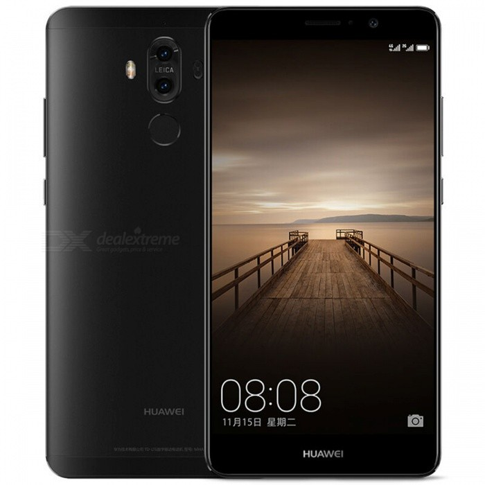 HUAWEI MATE 9 L29 5.9 4G Dual SIM Phone w/ 4+64GB - Black (TW Ver.)Android Phones<br>Form  ColorBlack (TW Version)RAM4GBROM64GBBrandHUAWEIModelMATE 9 L29Quantity1 pieceMaterialMetal + GlassShade Of ColorBlackTypeBrand NewPower AdapterUS PlugsNetwork Type2G,3G,4GBand DetailsGSM 850/900/1800/1900 MHz;  WCDMA 850/900/1700/1900/2100 MHz;  TD-SCDMA B34 / B39;  CDMA 800MHz;  FDD-LTE B1(2100MHz)/2(1900MHz)/3(1800MHz)/4(1700MHz)/5(850MHz)/7(2600MHz)/8(900MHz)/9   (1800MHz)/12(700MHz)/17(700MHz)/18 (800MHz)/19(800MHz)/20(800MHz)/26(800MHz)/28(700MHz)/29   (700MHz);  TDD-LTE B38(2600MHz)/B39(1900MHz)/B40 (2300MHz)/B41(2500MHz)Data TransferGPRS,LTE,HSUPAWLAN Wi-Fi 802.11 a,b,g,n,ac,Others,dual-band, DLNA, WiFi Direct, hotspotSIM Card TypeNano SIMSIM Card Quantity2Network StandbyDual Network StandbyGPSYes,A-GPS,BDS,GLONASS,GALILEONFCYesInfrared PortYesBluetooth VersionBluetooth V4.2Operating SystemOthers,Google Android 7.0 (Nougat), - EMUI 5.0CPU ProcessorHiSilicon Honor KIRIN960 Hi3660, 2016, 64 bit, Octa-core 2.4GHz, 64 Kbyte I-Cache, 64 Kbyte D-Cache, 16 nmCPU Core QuantityOcta-CoreGPUARM Mail-G71 GPULanguageN/AAvailable Memory49GBMemory CardMicroSDMax. Expansion Supported256GBSize Range5.5 inches &amp; OverTouch Screen TypeCapacitive ScreenScreen Resolution1920*1080Screen Size ( inches)Others,5.9 inchScreen Edge2.5D Curved EdgeCamera PixelOthers,Dual 20 MP +12 MPFront Camera Pixels8 MPVideo Recording Resolution2160p@30fps, 1080p@30/60fpsFlashYesAuto FocusYesTouch FocusYesOther Camera FunctionsPrimary Camera: Dual 20 MP +12 MP, f/2.2, 27mm, OIS, 2x zoom, Leica optics, phase detection &amp; laser autofocus, dual-LED (dual tone) flash; <br>Features: Geo-tagging, touch focus, face/smile detection, panorama, HDR; <br>Secondary camera: 8 MP, f/1.9, 26mm, 1080pTalk TimeN/A hourStandby TimeN/A hourBattery Capacity4000 mAhBattery ModeNon-removablefeaturesWi-Fi,GPS,FM,Bluetooth,NFC,OTGSensorProximity,Compass,Accelerometer,Gesture,Barometer,Fingerprint authentication sensor,Others,Gyr