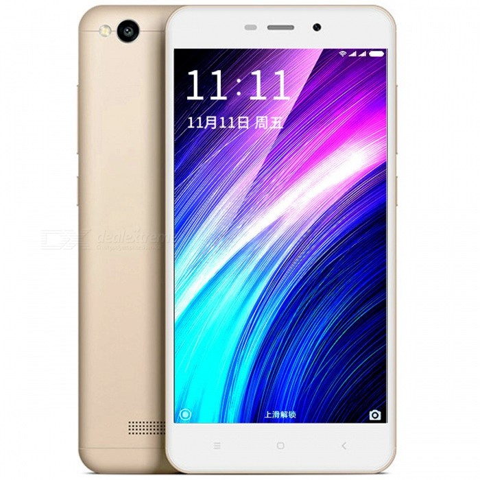 Xiaomi Redmi 4A 5.0 4G Dual SIM Phone w/ 2GB RAM + 16GB ROM - GoldenAndroid Phones<br>Form  ColorGoldenRAM2GBROM16GBBrandXiaomiModelredmi 4AQuantity1 setMaterialMetalShade Of ColorGoldTypeBrand NewPower AdapterUK PlugTime of Release2016Network Type2G,3G,4GBand DetailsGSM850/900/1800/1900;  UMTS2100 (B1), UMTS1900 (B2), UMTS850 (B5), UMTS900 (B8); CDMA800 (BC0), TD-SCDMA2000,  TD-SCDMA1900; LTE2100 (B1),  LTE1800 (B3), LTE850 (B5), LTE2600 (B7), TD-LTE2600 (B38), TD-LTE1900 (B39), TD-LTE2300 (B40), TD-LTE2500 (B41)Data TransferGPRS,HSDPA,EDGE,LTE,HSUPAWLAN Wi-Fi 802.11 b,g,n,Others,Wi-Fi Direct, Wi-Fi TetheringSIM Card TypeMicro SIM,Nano SIMSIM Card Quantity2Network StandbyDual Network StandbyGPSYes,A-GPSInfrared PortYesBluetooth VersionBluetooth V4.1Operating SystemOthers,Google Android 6.0.1 (Marshmallow), MIUIv8.6CPU ProcessorQualcomm Snapdragon 425 MSM8917, 2016, 64 bit, quad-core, 28 nm,  1400 MHzCPU Core QuantityQuad-CoreGPUQualcomm Adreno 308, 500 MHzLanguageNot SpecifyAvailable Memory16GBMemory CardmicroSDSize Range5.0~5.4 inchesTouch Screen TypeCapacitive ScreenScreen Resolution1280*720MultitouchOthers,YesScreen Size ( inches)5.0Camera Pixel13.0MPFront Camera Pixels5.0 MPVideo Recording Resolution1920x1080 pixel, 30 fpsFlashYesAuto FocusCD AFTouch FocusYesOther Camera FunctionsHDR photo, Red-eye reduction, Macro mode, Panorama Photo, Face detectionTalk TimeN/A hourStandby TimeN/A hourBattery Capacity3120 mAhBattery ModeNon-removablefeaturesWi-Fi,GPS,BluetoothSensorProximity,Compass,Accelerometer,Gesture,Others,Light sensor, GyroscopeWaterproof LevelIPX0 (Not Protected)I/O InterfaceMicro USBJAVANoTV TunerNoReference Websites== Will this mobile phone work with a certain mobile carrier of yours? ==Packing List1 x Cell Phone1 x Power Adapter1 x USB Charging Cable1 x User Manual1 x SIM tool<br>