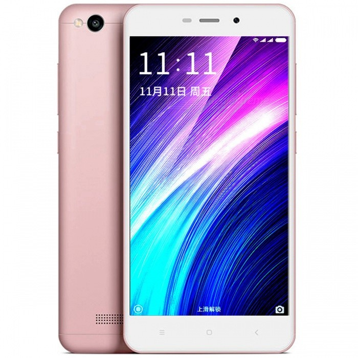 Xiaomi Redmi 4A 5.0 4G Dual SIM Phone w/ 2GB RAM + 16GB ROM - PinkAndroid Phones<br>Form  ColorPinkRAM2GBROM16GBBrandXiaomiModelredmi 4AQuantity1 setMaterialMetalShade Of ColorPinkTypeBrand NewPower AdapterUK PlugTime of Release2016Network Type2G,3G,4GBand DetailsGSM850/900/1800/1900;  UMTS2100 (B1), UMTS1900 (B2), UMTS850 (B5), UMTS900 (B8); CDMA800 (BC0), TD-SCDMA2000,  TD-SCDMA1900; LTE2100 (B1),  LTE1800 (B3), LTE850 (B5), LTE2600 (B7), TD-LTE2600 (B38), TD-LTE1900 (B39), TD-LTE2300 (B40), TD-LTE2500 (B41)Data TransferGPRS,HSDPA,EDGE,LTE,HSUPAWLAN Wi-Fi 802.11 b,g,n,Others,Wi-Fi Direct, Wi-Fi TetheringSIM Card TypeMicro SIM,Nano SIMSIM Card Quantity2Network StandbyDual Network StandbyGPSYes,A-GPSInfrared PortYesBluetooth VersionBluetooth V4.1Operating SystemOthers,Google Android 6.0.1 (Marshmallow), MIUIv8.6CPU ProcessorQualcomm Snapdragon 425 MSM8917, 2016, 64 bit, quad-core, 28 nm,  1400 MHzCPU Core QuantityQuad-CoreGPUQualcomm Adreno 308, 500 MHzLanguageNot SpecifyAvailable Memory16GBMemory CardmicroSDSize Range5.0~5.4 inchesTouch Screen TypeCapacitive ScreenScreen Resolution1280*720MultitouchOthers,YesScreen Size ( inches)5.0Camera Pixel13.0MPFront Camera Pixels5.0 MPVideo Recording Resolution1920x1080 pixel, 30 fpsFlashYesAuto FocusCD AFTouch FocusYesOther Camera FunctionsHDR photo, Red-eye reduction, Macro mode, Panorama Photo, Face detectionTalk TimeN/A hourStandby TimeN/A hourBattery Capacity3120 mAhBattery ModeNon-removablefeaturesWi-Fi,GPS,BluetoothSensorProximity,Compass,Accelerometer,Gesture,Others,Light sensor, GyroscopeWaterproof LevelIPX0 (Not Protected)I/O InterfaceMicro USBJAVANoTV TunerNoReference Websites== Will this mobile phone work with a certain mobile carrier of yours? ==Packing List1 x Cell Phone1 x Power Adapter1 x USB Charging Cable1 x User Manual1 x SIM tool<br>