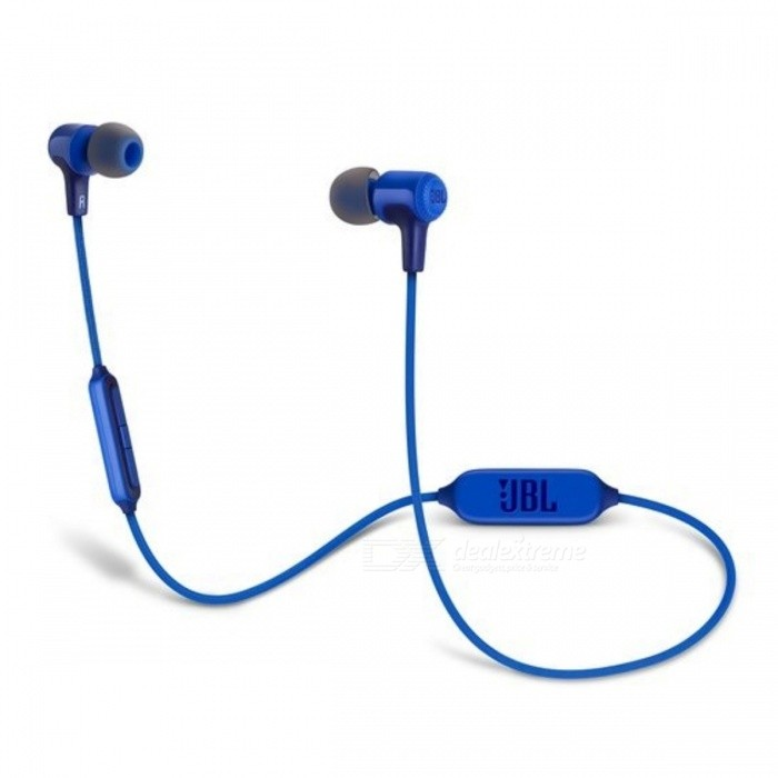 JBL E25BT Wireless Bluetooth In-Ear Headphones - BlueOther Bluetooth Devices<br>Form  ColorBlueModelE25BTMaterialPlasticQuantity1 setShade Of ColorBlueBluetooth VersionOthers,Bluetooth V4.1Operating Range10 metersStandby Time8 hoursPacking List1 x E25BT1 x Charging Cable1 x Warning Card1 x Warranty Card1 x Safety Sheet1 x Carrying Pouch<br>