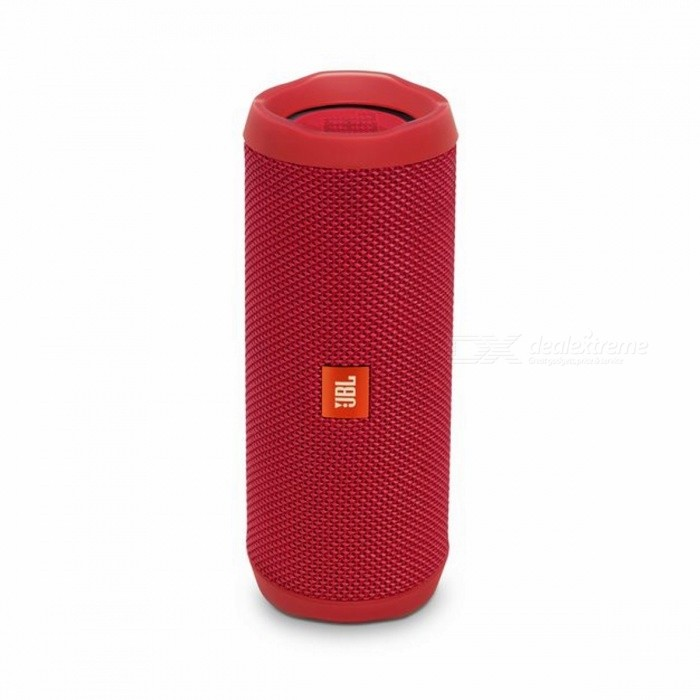 JBL Flip 4 Bluetooth Speaker - RedBluetooth Speakers<br>Form  ColorRedModelFlip 4MaterialDurable fabricQuantity1 pieceShade Of ColorRedBluetooth HandsfreeYesBluetooth VersionOthers,Bluetooth V4.2Operating Rangeabout 33 feet or 10 meters.Total Power2 x 8 WFrequency Response70Hz~20KHzApplicable ProductsOthers,all bluetooth enable decivesRadio TunerYesFM Frequency80dBBuilt-in Battery Capacity 3000 mAhBattery TypeLi-ion batteryMusic Play Time12 hoursPacking List1 x Flip 41 x Micro USB cable1 x Safety Sheet1 x Quick Start Guide1 x Warranty Card<br>