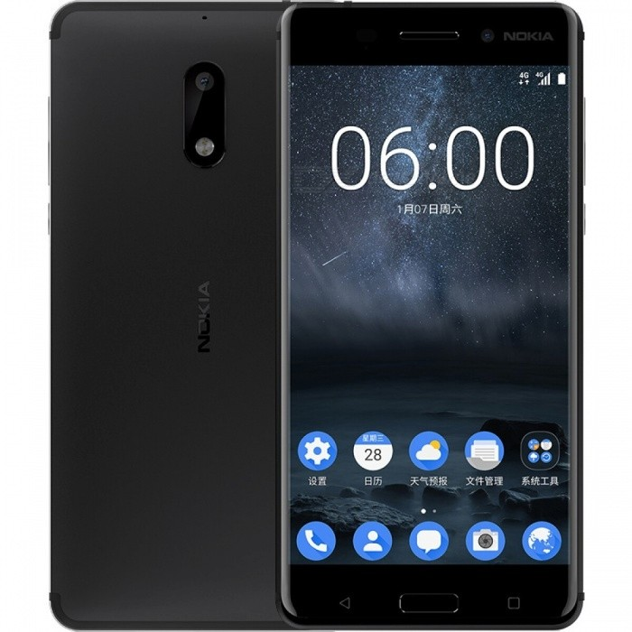 Nokia 6 5.5 IPS Dual SIM Phone w/ 4+64GB - Black (CN Version)Android Phones<br>Form  ColorBlackRAM4GBROM64GBBrandNokiaModel6Quantity1 setMaterialAluminum alloyShade Of ColorBlackTypeBrand NewPower AdapterOthers,2-Flat-Pin PlugNetwork Type2G,3G,4GBand DetailsGSM 850 / 900 / 1800 / 1900, UMTS2100 (B1), UMTS1900 (B2), UMTS850 (B5), UMTS900 (B8), CDMA800 (BC0), TD-SCDMA2000, TD-SCDMA1900,  LTE2100 (B1), LTE1800 (B3), LTE850 (B5), LTE2600 (B38), TD-LTE1900 (B39), TD-LTE2300 (B40), TD-LTE2500 (B41)Data TransferGPRS,HSDPA,EDGE,LTE,HSUPAWLAN Others,Wi-Fi 802.11 b,g,n,ac, Wi-Fi directSIM Card TypeNano SIMSIM Card Quantity2Network StandbyDual Network StandbyGPSYes,A-GPS,GLONASSNFCYesBluetooth VersionOthers,N/AOperating SystemOthers,Android 7.0CPU ProcessorQualcomm Snapdragon 430 MSM8937, 2016, 64 bit, octa-core, 28 nm, 1400MHzCPU Core QuantityOcta-CoreGPUQualcomm Adreno 505LanguageNot specifyAvailable MemoryN/AMemory CardTFMax. Expansion Supported128GBSize Range5.5 inches &amp; OverTouch Screen TypeIPSScreen Resolution1920*1080MultitouchOthers,YesScreen Size ( inches)Others,5.5Screen Edge2.5D Curved EdgeCamera PixelOthers,16MPFront Camera Pixels8 MPVideo Recording Resolution1920 x 1080 pixelFlashYesAuto FocusCD AF, PD AFTouch FocusYesOther Camera FunctionsHDR photo, slow motion video, panorama Photo, face retouch, geo-tagging, face detectionTalk Time18 hoursStandby Time768 hoursBattery Capacity3000 mAhBattery ModeNon-removablefeaturesWi-Fi,GPS,Bluetooth,NFC,OTGSensorG-sensor,Proximity,Compass,Accelerometer,Fingerprint authentication sensor,Others,Hall sensor, light sensorWaterproof LevelIPX1I/O Interface3.5mm,Micro USB v2.0,OTGJAVANoReference Websites== Will this mobile phone work with a certain mobile carrier of yours? ==Packing List1 x Phone1 x Power adapter (2-Flat-Pin Plug)1 x Data cable1 x User manual<br>