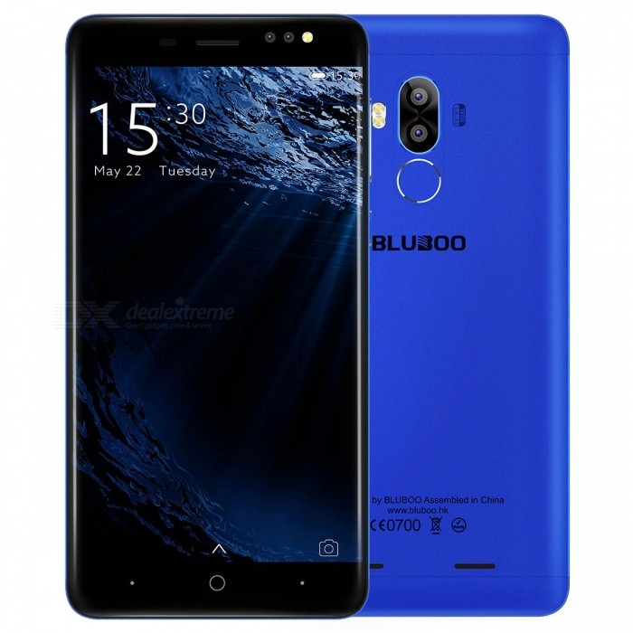 BLUBOO D1 5.0 Android 7.0 3G Phone w/ 2GB RAM 16GB ROM - BlueAndroid Phones<br>Form  ColorDark BlueRAM2GBROM16GBBrandOthers,BLUBOOModelD1Quantity1 piecesMaterialPCShade Of ColorBlueTypeBrand NewPower AdapterUSBHousing Case MaterialPCTime of Release2017. 5 .15Network Type2G,3GBand DetailsGSM:5(850)/B8(900)/B3(1800)/B2(1900) WCDMA: B8(900 ) /B1(2100)Data TransferGPRSWLAN Wi-Fi 802.11 b,g,nSIM Card TypeMicro SIMSIM Card Quantity2Network StandbyDual Network StandbyGPSYes,A-GPSNFCNoInfrared PortNoBluetooth VersionBluetooth V4.0Operating SystemOthers,Android 7.0CPU ProcessorMTK6580A Quad-core 1.3GHzCPU Core QuantityQuad-CoreGPUMali-400MP2 500MHzLanguageArabic, Chinese Simplified, Chinese Tradition, Dutch (Nederlands), English (United States), English (United Kingdom), French, German, Italian, Portuguese, Spanish, Bengal?, Croatian, Czech, Danish, Greek, Hebrew, Hindi, Hungara, Indonesian,Japanese, Korean, Malay, Persian, Polish, Romanian, Russian, Serbian, Swedish, Thai, Turkish, Urdu, Vietnamese, Catalan, Latvian, Lithuanian, Norwegian,Slovak, Slovenian, Bulgarian, Ukrainian, Filipino, Finnish, Burmese (official), Cambodian, Estonian, Armenian, KazakhAvailable Memory12GBMemory CardMicro SDMax. Expansion Supported256GBSize Range5.0~5.4 inchesTouch Screen TypeCapacitive ScreenScreen Resolution1280*720Multitouch2Screen Size ( inches)5.0Screen Edge2D Curved EdgeCamera Pixel8.0MPFront Camera Pixels5.0 MPVideo Recording Resolution720P<br>720*1280FlashYesAuto FocusYesTouch FocusYesTalk Time12 hoursStandby Time16 hoursBattery Capacity2600 mAhBattery ModeReplacementQuick ChargeNofeaturesWi-Fi,GPS,FM,BluetoothSensorG-sensor,Fingerprint authentication sensorWaterproof LevelIPX0 (Not Protected)Shock-proofNoI/O InterfaceMicro USB v2.0Format SupportedMP3  AAC ASF  etcTV TunerNoRadio TunerFMWireless ChargingNoReference Websites== Will this mobile phone work with a certain mobile carrier of yours? ==CertificationCEPacking List1 x Mobile Phone1 x USB cable1 x Charger1 x User manual1 x Quick guide1 x Waranty card<br>