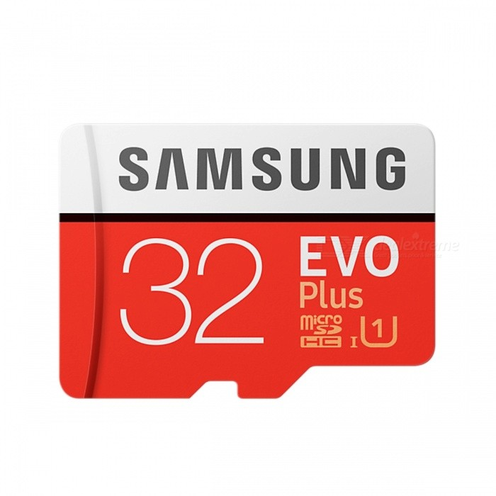 Samsung R95W20 MB-MC32G EVO Plus 32GB MicroSD CardMicroSD TF Cards<br>Capacity32GBBrandSamsungModelMB-MC32GQuantity1 pieceMaterialPlastic + MetalSpeed ClassUHS-I (U1)Max Read Speed95Mb/sMax Write Speed20Mb/sOverwrite Protection SwitchNoPacking List1 x MB-MC32G MicroSD Card<br>