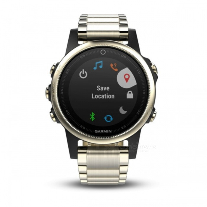 GARMIN Fenix 5S Sapphire HR Smart Watch - Champagne + BlackSmart Watches<br>Form  ColorChampagne + BlackModelGarmin f?nix 5SQuantity1 setMaterialStainless steelShade Of ColorYellowCPU ProcessorNot specifyScreen Size1.1 inchScreen Resolution218 x 218 pixelsTouch Screen TypeYesBluetooth VersionOthers,Low Energy (all versions)Compatible OSiPhone®, Android, Windows®LanguageNot specifyWristband Length22 cmWater-proofOthers,10 ATMBattery ModeReplacementStandby Time14 hoursPacking List1 x GARMIN Fenix 5S Smart watch1 x Charging/data cable1 x User manual<br>
