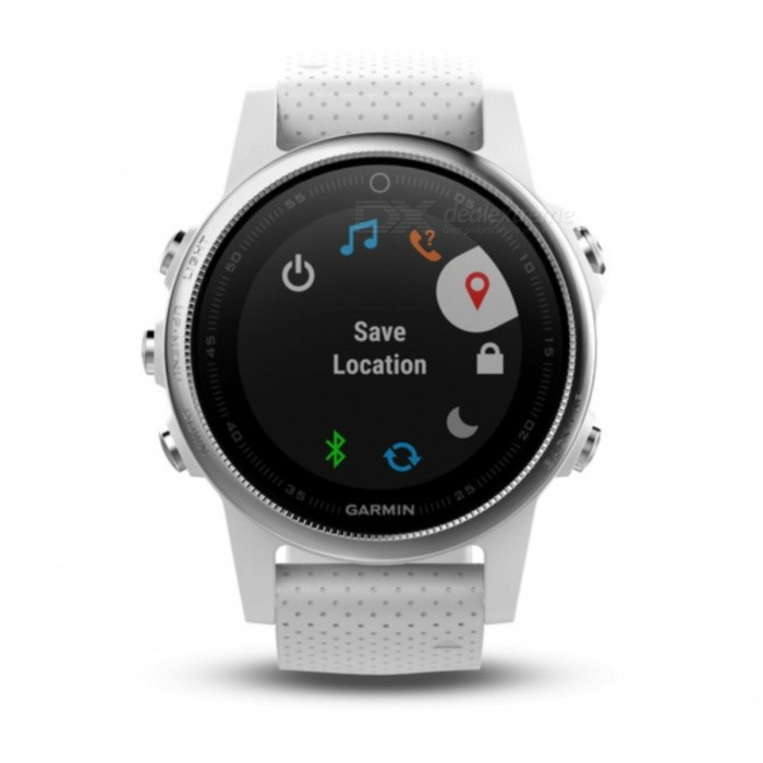 GARMIN Fenix 5S Smart Watch - WhiteSmart Watches<br>Form  ColorWhiteModelGarmin f?nix 5SQuantity1 DX.PCM.Model.AttributeModel.UnitMaterialStainless steelShade Of ColorWhiteCPU ProcessorNot specifyScreen Size1.1 DX.PCM.Model.AttributeModel.UnitScreen Resolution218 x 218 pixelsTouch Screen TypeYesBluetooth VersionOthers,Low Energy (all versions)Compatible OSiPhone®, Android, Windows®LanguageNot specifyWristband Length22 DX.PCM.Model.AttributeModel.UnitWater-proofOthers,10 ATMBattery ModeReplacementStandby Time14 DX.PCM.Model.AttributeModel.UnitPacking List1 x GARMIN Fenix 5S Smart watch1 x Charging/data cable1 x User manual<br>