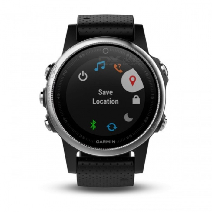GARMIN Fenix 5S Smart Watch - BlackSmart Watches<br>Form  ColorBlackModelGarmin f?nix 5SQuantity1 DX.PCM.Model.AttributeModel.UnitMaterialStainless steelShade Of ColorBlackCPU ProcessorNot specifyScreen Size1.1 DX.PCM.Model.AttributeModel.UnitScreen Resolution218 x 218 pixelsTouch Screen TypeYesBluetooth VersionOthers,Low Energy (all versions)Compatible OSiPhone®, Android, Windows®LanguageNot specifyWristband Length22 DX.PCM.Model.AttributeModel.UnitWater-proofOthers,10 ATMBattery ModeReplacementStandby Time14 DX.PCM.Model.AttributeModel.UnitPacking List1 x GARMIN Fenix 5S Smart Watch1 x Charging/data cable1 x User manual<br>