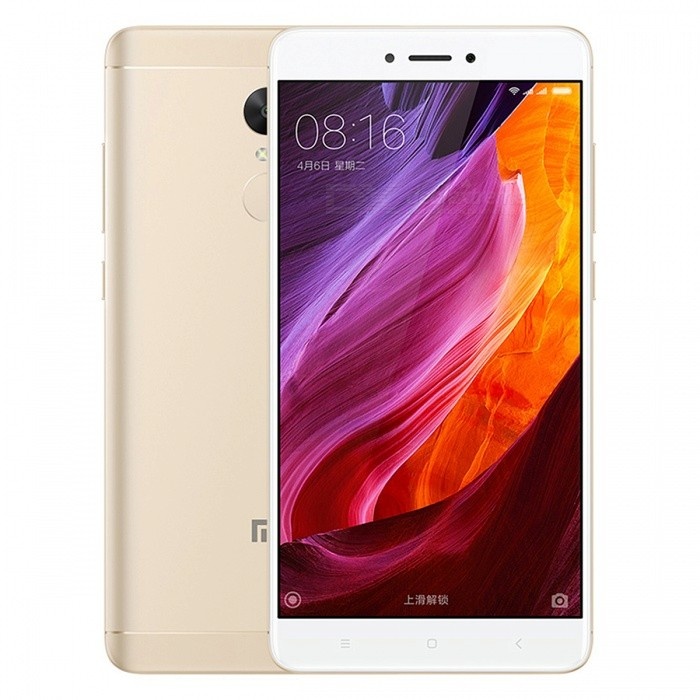 Xiaomi Redmi Note 4X 5.5 Dual SIM Phone with 4GB RAM 64GB ROM -GoldenAndroid Phones<br>Form  ColorGolden (CMCC Logo)RAM4GBROM64GBBrandXiaomiModelRedmi Note 4XQuantity1 pieceMaterialMetal + GlassShade Of ColorGoldTypeBrand NewPower AdapterOthers,2-Flat-Pin PlugNetwork Type2G,3G,4GBand DetailsGSM850/900/1800/1900;  UMTS2100 (B1), UMTS1900 (B2), UMTS850 (B5), UMTS900 (B8); CDMA800 (BC0), TD-SCDMA2000,  TD-SCDMA1900; LTE2100 (B1),  LTE1800 (B3), LTE850 (B5), LTE2600 (B7), TD-LTE1900 (B39), TD-LTE2300 (B40), TD-LTE2500 (B41)Data TransferGPRS,HSDPA,EDGE,LTE,HSUPAWLAN Wi-Fi 802.11 a,b,g,n,Others,Wi-Fi Direct, HotspotSIM Card TypeMicro SIM,Nano SIMSIM Card Quantity2Network StandbyDual Network StandbyGPSYes,A-GPS,BDS,GLONASSBluetooth VersionBluetooth V4.1Operating SystemOthers,Google Android 6.0.1 (Marshmallow), MIUIvCPU ProcessorMTK Helio X20 Hexa-core 2.1GHzCPU Core QuantityHexa-CoreGPUMali T880 MP4 700MHzLanguageNot SpecifyAvailable Memory64GBMemory CardMicroSDMax. Expansion Supported256GBSize Range5.5 inches &amp; OverTouch Screen TypeCapacitive ScreenScreen Resolution1920*1080Screen Size ( inches)5.5Screen Edge2.5D Curved EdgeCamera Pixel13.0MPFront Camera Pixels5.0 MPVideo Recording Resolution1080p@30fps, 720p@120fpsFlashYesAuto FocusYesTouch FocusYesOther Camera FunctionsPrimary camera: 13 MP, f/2.0, phase detection autofocus, dual-LED (dual tone) flash; <br>Features: 1.12 µm pixel size, geo-tagging, touch focus, face detection, panorama, HDR; <br>Secondary camera: 5 MP, f/2.0, 1080pTalk Time51 hoursStandby Time264 hoursBattery Capacity4100 mAhBattery ModeNon-removablefeaturesWi-Fi,GPS,FM,Bluetooth,OTGSensorProximity,Compass,Accelerometer,Fingerprint authentication sensor,Others,Gyro, Hall sensor, Light sensorWaterproof LevelIPX0 (Not Protected)I/O InterfaceMicro USB v2.0,OTGFormat SupportedPCM/AAC/AAC+/eAAC+/MP3/AMR-NB/WB/FLAC/APE/ DSD/WAV; H.265/H.264/MPEG4; JPEG/GIFJAVANoRadio TunerFMReference Websites== Will this mobile phone work with a certain mobile carrier of 