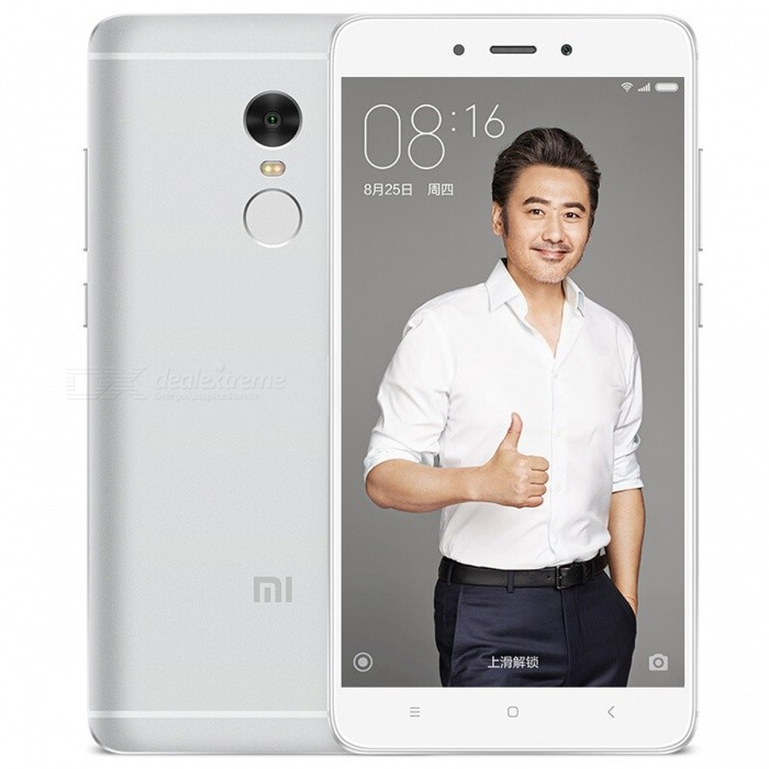 Xiaomi Redmi Note 4 Phone w/ Dual SIM, 3GB RAM 64GB ROM - SilverAndroid Phones<br>Form  ColorSilver (CN Version)RAM3GBROM64GBBrandXiaomiModelRedmi Note 4Quantity1 setMaterialAluminum alloyShade Of ColorGoldTypeBrand NewPower AdapterOthers,CN PlugNetwork Type2G,3G,4GBand DetailsGSM 900 / 1800 / 1900, UMTS2100 (B1), UMTS1900 (B2), UMTS850 (B5), UMTS900 (B8), CDMA800, TD-SCDMA2000, TD-SCDMA1900,  LTE2100 (B1), LTE1800 (B3), LTE850 (B5), LTE2600 (B7), LTE900 (B8), TD-LTE2600 (B38), TD-LTE1900 (B39), TD-LTE2300 (B40), TD-LTE2500 (B41)Data TransferGPRS,HSDPA,EDGE,LTE,HSUPAWLAN Wi-Fi 802.11 a,b,g,n,ac,Others,Wi-Fi Direct, Wi-Fi displaySIM Card TypeMicro SIM,Nano SIMSIM Card Quantity2Network StandbyDual Network StandbyGPSYes,A-GPS,GLONASSInfrared PortYesBluetooth VersionBluetooth V4.2Operating SystemAndroid 6.0CPU ProcessorMediaTek MT6797M (Helio X20), 2016, 64 bit, deca-core, 20nm, 2100MHzCPU Core QuantityDeca-CoreGPUARM Mali-T880LanguageNot specifiedAvailable MemoryN/AMemory CardTFMax. Expansion Supported256GBSize Range5.5 inches &amp; OverTouch Screen TypeIPSScreen Resolution1920*1080Screen Size ( inches)Others,5.5 inchesScreen Edge2.5D Curved EdgeCamera Pixel13.0MPFront Camera Pixels5.0 MPVideo Recording Resolution1920x1080 pixel, 30 fpsFlashYesAuto FocusPD AFTouch FocusYesOther Camera FunctionsEIS, HDR photo, HDR video, macro mode, Geo-tagging, panorama, smile detectionTalk TimeN/A hourStandby TimeN/A hourBattery Capacity4100 mAhBattery ModeNon-removablefeaturesWi-Fi,GPS,FM,Bluetooth,OTGSensorG-sensor,Proximity,Compass,Accelerometer,Fingerprint authentication sensor,Others,Hall sensor, Light sensorWaterproof LevelIPX1I/O Interface3.5mm,Micro USB v2.0,OTGSoftwareGoogle PlayJAVANoRadio TunerFMReference Websites== Will this mobile phone work with a certain mobile carrier of yours? ==Form  ColorSilverRAM3GBROM64GBPacking List1 x Phone1 x Power adapter1 x USB cable1 x Pin1 x User manual<br>