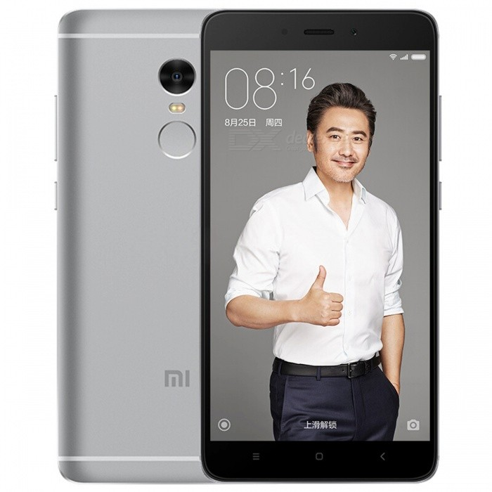 Xiaomi Redmi Note 4 Phone w/ Dual SIM, 3GB RAM 64GB ROM - GreyAndroid Phones<br>Form  ColorGrey (CN Version)RAM3GBROM64GBBrandXiaomiModelRedmi Note 4Quantity1 setMaterialAluminum alloyShade Of ColorGoldTypeBrand NewPower AdapterOthers,CN PlugNetwork Type2G,3G,4GBand DetailsGSM 900 / 1800 / 1900, UMTS2100 (B1), UMTS1900 (B2), UMTS850 (B5), UMTS900 (B8), CDMA800, TD-SCDMA2000, TD-SCDMA1900,  LTE2100 (B1), LTE1800 (B3), LTE850 (B5), LTE2600 (B7), LTE900 (B8), TD-LTE2600 (B38), TD-LTE1900 (B39), TD-LTE2300 (B40), TD-LTE2500 (B41)Data TransferGPRS,HSDPA,EDGE,LTE,HSUPAWLAN Wi-Fi 802.11 a,b,g,n,ac,Others,Wi-Fi Direct, Wi-Fi displaySIM Card TypeMicro SIM,Nano SIMSIM Card Quantity2Network StandbyDual Network StandbyGPSYes,A-GPS,GLONASSInfrared PortYesBluetooth VersionBluetooth V4.2Operating SystemAndroid 6.0CPU ProcessorMediaTek MT6797M (Helio X20), 2016, 64 bit, deca-core, 20nm, 2100MHzCPU Core QuantityDeca-CoreGPUARM Mali-T880LanguageNot specifiedAvailable MemoryN/AMemory CardTFMax. Expansion Supported256GBSize Range5.5 inches &amp; OverTouch Screen TypeIPSScreen Resolution1920*1080Screen Size ( inches)Others,5.5 inchesScreen Edge2.5D Curved EdgeCamera Pixel13.0MPFront Camera Pixels5.0 MPVideo Recording Resolution1920x1080 pixel, 30 fpsFlashYesAuto FocusPD AFTouch FocusYesOther Camera FunctionsEIS, HDR photo, HDR video, macro mode, Geo-tagging, panorama, smile detectionTalk TimeN/A hourStandby TimeN/A hourBattery Capacity4100 mAhBattery ModeNon-removablefeaturesWi-Fi,GPS,FM,Bluetooth,OTGSensorG-sensor,Proximity,Compass,Accelerometer,Fingerprint authentication sensor,Others,Hall sensor, Light sensorWaterproof LevelIPX1I/O Interface3.5mm,Micro USB v2.0,OTGSoftwareGoogle PlayJAVANoRadio TunerFMReference Websites== Will this mobile phone work with a certain mobile carrier of yours? ==Form  ColorGreyRAM3GBROM64GBPacking List1 x Phone1 x Power adapter1 x USB cable1 x Pin1 x User manual<br>