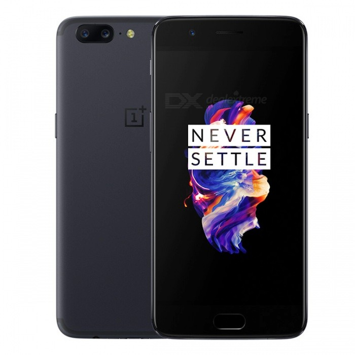 OnePlus 5 Dual SIM 5.5 Phone with 6GB RAM, 64GB ROM - GreyAndroid Phones<br>Form  ColorGreyRAM6GBROM64GBBrandOnePlusModel5Quantity1 pieceMaterialAluminium alloyShade Of ColorGrayTypeBrand NewPower AdapterUK PlugTime of Release2017Network Type2G,3G,4GBand DetailsGSM850/900/1800/1900;  UMTS2100 (B1), UMTS1900 (B2),  UMTS1700/2100 (B4), UMTS850 (B5), UMTS900 (B8); CDMA800 (BC0);   TD-SCDMA2000,  TD-SCDMA1900; LTE2100 (B1), LTE1900 (B2), LTE1800 (B3),  LTE1700/2100 (B4), LTE850 (B5), LTE2600 (B7), LTE900 (B8),   LTE700 (B12), LTE700 (B17), LTE800 (B18), LTE800 (B19), LTE800 (B20),  LTE850 (B26), LTE700 (B28),   LTE700 (B29), LTE2300 (B30), TD-LTE2600 (B38), TD-LTE2300 (B40), LTE1700/2100 (B66)Data TransferGPRS,HSDPA,EDGE,LTE,HSUPAWLAN Wi-Fi 802.11 a,b,g,n,ac,Others,DLNA, Miracast, Wi-Fi Tethering, Wi-Fi DirectSIM Card TypeNano SIMSIM Card Quantity2Network StandbyDual Network StandbyGPSYes,A-GPSNFCYesBluetooth VersionOthers,Bluetooth 5.0Operating SystemOthers,Google Android 7.1.1 (Nougat)CPU ProcessorQualcomm Snapdragon 835 MSM8998, 2017, 64 bit, octa-core, 32 Kbyte I-Cache, 32 Kbyte D-Cache, 2048 Kbyte L2, 10 nmCPU Core QuantityOcta-CoreGPUQualcomm Adreno 540LanguageNot SpecifyAvailable Memory64GBMemory CardNoMax. Expansion SupportedNoSize Range5.5 inches &amp; OverTouch Screen TypeYesScreen Resolution1920*1080MultitouchOthers,YesScreen Size ( inches)5.5Screen Edge2.5D Curved EdgeCamera PixelOthers,20MP + 16MPFront Camera Pixels16 MPVideo Recording Resolution3840x2160 pixel, 30 fps;<br>1920x1080 pixel, 30 fpsFlashYesAuto FocusCD AF; PD AF; MFTouch FocusYesOther Camera FunctionsEIS, EIS (video), OIS, OIS (video), HDR photo, HDR video, Red-eye reduction, Slow motion video, Burst mode, Touch focus, Macro mode,Panorama Photo, Face detection, Smile detectionTalk TimeN/A hourStandby TimeN/A hourBattery Capacity3300 mAhBattery ModeNon-removableQuick ChargeYesfeaturesWi-Fi,GPS,Bluetooth,NFC,OTGSensorProximity,Compass,Accelerometer,Fingerprint authentication sensor,Others,Hall sensor, Light sensor, GyroscopeWaterproof LevelOthers,YesDust-proof LevelYesI/O InterfaceUSB Type-cFormat SupportedMusic: MP3, AAC, AAC+, WMA, AMR-NB, AMR-WB, WAV, FLAC, APE, OGG, MID, M4A, IMY; WAV, AAC, AMR;  Video: MKV, MOV, MP4, H.265(HEVC), AVI, WMV, TS, 3GP, FLV, WEBM; MP4JAVANoTV TunerNoReference Websites== Will this mobile phone work with a certain mobile carrier of yours? ==Packing List1 x OnePlus 5 Phone1 x Dash Type-C Cable1 x Dash Quick Charger1 x SIM Pin1 x User Manual<br>