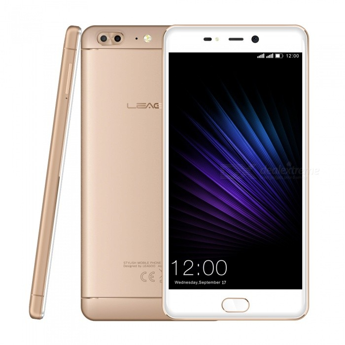 LEAGOO T5 Android 7.0 Smartphone with 4GB RAM 64GB ROM - GoldenAndroid Phones<br>Form  ColorGoldenRAM4GBROM64GBBrandLeagooModelT5Quantity1 pieceMaterialMetalShade Of ColorGoldTypeBrand NewPower AdapterEU PlugHousing Case MaterialMetalNetwork Type2G,3G,4GBand Details4G:FDD-LTE:2100/1800/2600/900/850/800(B1/3/5/7/8/20) TDD-LTE:2300(B40) 3G:WCDMA:2100/900/850(B1/5/8) 2G:GSM: 850/900/1800/1900(B5/8/3/2)Data TransferGPRS,HSDPA,EDGE,LTEWLAN Wi-Fi 802.11 b,g,nSIM Card TypeNano SIMSIM Card Quantity2Network StandbyDual Network StandbyGPSYesBluetooth VersionBluetooth V4.0Operating SystemOthers,Android 7.0CPU ProcessorMT6750T 1.5GHzCPU Core QuantityOcta-CoreGPUMali-T720 MP1 650(T)MHZLanguageGlobal multinational languageAvailable Memory55GBMemory CardMicro SD CardMax. Expansion Supported256GBSize Range5.5 inches &amp; OverTouch Screen TypeIPSScreen Resolution1920*1080Multitouch5Screen Size ( inches)5.5Camera PixelOthers,13MP+5MPFront Camera Pixels13 MPFlashYesAuto FocusYesTouch FocusYesTalk Time13 hoursStandby Time100 hoursBattery Capacity3000 mAhBattery ModeNon-removablefeaturesWi-Fi,GPS,FM,Bluetooth,OTGSensorG-sensor,Proximity,Compass,Others,Ambient light senorWaterproof LevelIPX0 (Not Protected)I/O InterfaceMicro USB,3.5mmFormat SupportedWAV, AMR, MP3, MID, 3GP, RM, MPEG-4, AVIReference Websites== Will this mobile phone work with a certain mobile carrier of yours? ==Packing List1 x Cell phone1 x Data cable1 x EU Plug Power adapter1 x User manual1 x Warranty manual<br>