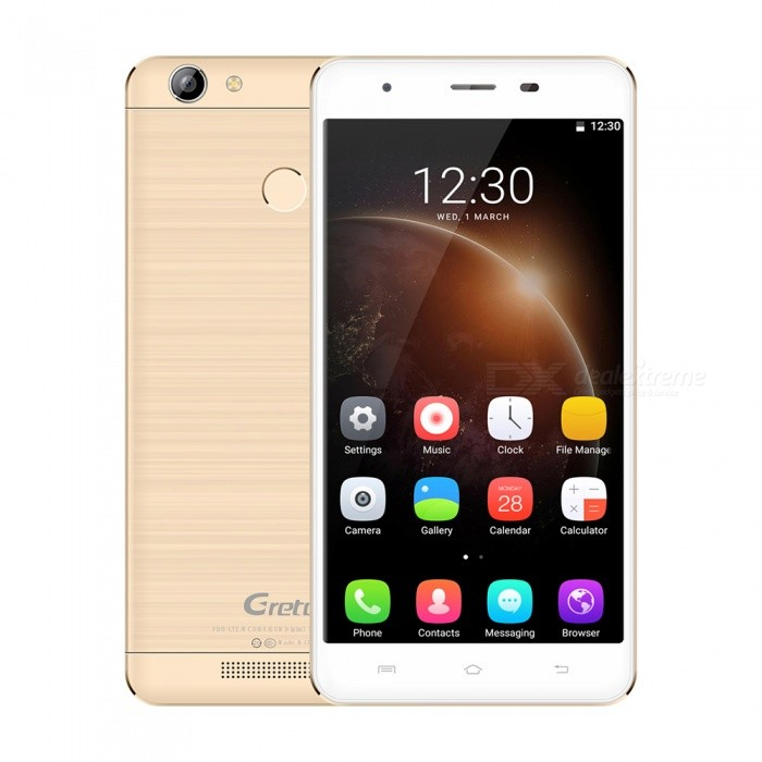 Gretel A6 Android 6.0 Smartphone with 2GB RAM, 16GB ROM - GoldenAndroid Phones<br>Form  ColorGoldenRAM2GBROM16GBBrandOthers,GretelModelA6Quantity1 pieceMaterialMetalShade Of ColorGoldTypeBrand NewPower AdapterEU PlugHousing Case MaterialMetalNetwork Type2G,3G,4GBand Details4G:FDD-LTE:2100/1800/2600/900/800(B1/3/7/8/20) 3G:WCDMA:2100/900(B1/8) 2G:GSM: 850/900/1800/1900(B5/8/3/2)Data TransferGPRS,HSDPA,LTEWLAN Wi-Fi 802.11 b,g,nSIM Card TypeMicro SIM,Nano SIMSIM Card Quantity2Network StandbyDual Network StandbyGPSYesBluetooth VersionBluetooth V4.0Operating SystemAndroid 6.0CPU ProcessorMT6737 Quad-core 1.3GHzCPU Core QuantityQuad-CoreLanguageIndonesian, Malay, Catalan, Czech, Danish, German, Estonian, English, Spanish, Filipino, French, Croatian, Italian, Latvian, Lithuanian, Hungarian, Dutch, Norwegian, Polish, Portuguese, Romanian, Slovak, Finnish, Swedish, Vietnamese, Greek, Turkish, Bulgarian, Russian, Serb, Ukrainian, Armenian, Hebrew, Urdu, Arabic, Persian, Hindi, Bengali, Thai, Korean, Burmese, Japanese, Simplified Chinese, Traditional ChineseAvailable Memory11GBSize Range5.5 inches &amp; OverTouch Screen TypeIPSScreen Resolution1280*720Multitouch5Screen Size ( inches)5.0Camera Pixel13.0MPFront Camera Pixels5.0 MPFlashYesTalk Time5 hoursStandby Time200 hoursBattery Capacity3000 mAhBattery ModeNon-removablefeaturesWi-Fi,GPS,BluetoothSensorG-sensor,Proximity,Fingerprint authentication sensorWaterproof LevelIPX0 (Not Protected)I/O InterfaceMicro USB,3.5mmFormat SupportedWAV, AMR, MP3, MID, 3GP, RM, MPEG-4, AVIReference Websites== Will this mobile phone work with a certain mobile carrier of yours? ==Packing List1 x Cell phone1 x Data cable1 x EU plug Power adapter1 x User manual1 x Warranty manual<br>