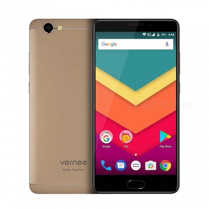 Vernee Thor Plus 5.5 Android 7.0 4G Smartphone 3G RAM 32G ROM - GoldAndroid Phones<br>Form  ColorGoldenRAM3GBROM32GBBrandOthers,VERNEEModelTHOR PLUSQuantity1 setMaterialPlastic+MetalShade Of ColorGoldTypeBrand NewPower AdapterEU PlugHousing Case MaterialPlastic+MetalNetwork Type2G,3G,4GBand Details2G:GSM: 850/900/1800/1900 3G:WCDMA:2100/900 4G:FDD-LTE:2100/1800/2600/800(B1/3/7/20)Data TransferGPRS,HSDPA,EDGE,LTEWLAN Wi-Fi 802.11 b,g,nSIM Card TypeStandard SIM,Micro SIMSIM Card Quantity2Network StandbyDual Network StandbyGPSYesNFCNoInfrared PortNoBluetooth VersionBluetooth V4.0Operating SystemOthers,Android 7.0CPU ProcessorMT6753 1.3GHzCPU Core QuantityOcta-CoreGPUARM T720LanguageIndonesian, Malay, Catalan, Czech, Danish, German, Estonian, English, Spanish, Filipino, French, Croatian, Italian, Latvian, Lithuanian, Hungarian, Dutch, Norwegian, Polish, Portuguese, Romanian, Slovak, Finnish, Swedish, Vietnamese, Greek, Turkish, Bulgarian, Russian, Serb, Ukrainian, Armenian, Hebrew, Urdu, Arabic, Persian, Hindi, Bengali, Thai, Korean, Burmese, Japanese, Simplified Chinese, Traditional ChineseAvailable Memory25GMemory CardYesMax. Expansion Supported128GSize Range5.5 inches &amp; OverTouch Screen TypeAMOLEDScreen Resolution1280*720Multitouch5Screen Size ( inches)5.5Camera Pixel13.0MPFront Camera Pixels8 MPFlashYesAuto FocusNoTouch FocusYesTalk Time20 hourStandby Time200 hourBattery Capacity6200 mAhQuick ChargeYesfeaturesWi-Fi,GPS,BluetoothSensorG-sensor,ProximityWaterproof LevelIPX0 (Not Protected)Dust-proof LevelNoShock-proofNoI/O InterfaceMicro USB v2.0SoftwarePlay Store, E-mail, Gmail, Calculator, File manager, Clock, Calendar, Gallery,  Music, Sound Recorder, FM Radio, etc.Format Supportedaudio:3GPPMPEG-4H.264WMV9VP9 MIDIMP3AAC ARM AWB WAV FLAC Video:3GPPMPEG-4H.264WMV9VP9JAVAYesTV TunerNoRadio TunerFMWireless ChargingNoOther Features5.5 HD IPS + Dual Network Standby + Android 7.0 + 3GB RAM + 32GB ROM + Wi-Fi + GPS + FM + OTG +  8.0MP Front camera+ 13.0MP Rear camera + 6200mAh battery + Qcta-Core + Bluetooth V4.0Reference Websites== Will this mobile phone work with a certain mobile carrier of yours? ==CertificationCE MSDS ROHSPacking List1 x Cell phone1 x Data cable1 x EU Plug1 x User manual1 x Warranty manua<br>