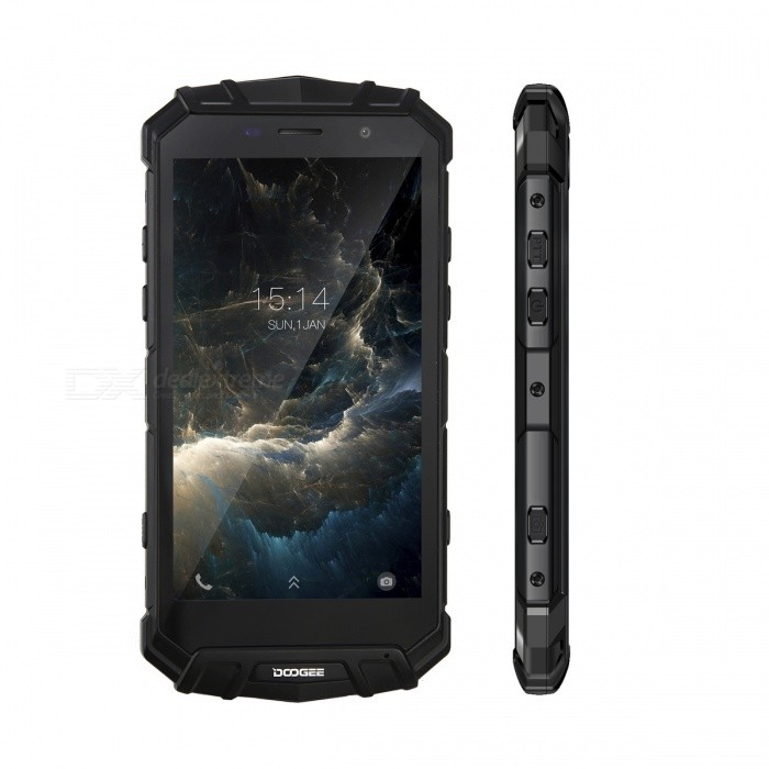 DOOGEE S60 IP68 Waterproof 4G Phone w/ 6GB RAM, 64GB ROM - BlackSpecial Phones<br>Form  ColorBlackRAM6GBROM64GBBrandDoogeeModelS60MaterialMetal + PlasticQuantity1 setShade Of ColorBlackNetwork Type2G,3G,4GCellularWCDMA,CDMA2000,GSM,FDD-LTE,TD-LTE,TDD-LTEBand Details2G: GSM 850/900/1800/1900MHz; 3G: WCDMA 850/900/1900/2100MHz; 4G: FDD-LTE Band 1/2/3/4/5/7/8/12/17/19/20(B1:2100, B2:1900, B3:1800, B4:1700/2100, B5:850, B7:2600, B8:900, B12:700, B17:700, B19:800, B20:800MHz)Data TransferGPRS,HSDPA,EDGEGPSYesWi-FiWi-Fi 802.11 a,b,g,nSIM Card TypeMicro SIMSIM Card Quantity2Network StandbyDual Network StandbyWLAN Wi-Fi 802.11 a,b,g,nNFCYesOSAndroidOperating SystemOthers,Android 7.0Firmware VersionAndroid 7.0CPU Core QuantityOthers,Octa-CoreCPU ProcessorHelio P25     2.5GHzLanguageAfrikaans / Indonesian / Malay / Czech / Danish / Germany(German) / Germany (Austria) / English(United Kingdom) / English(United States) / Spanish(Espana) / Spanish(Estados Unidos) / Filipino / French / Croatian / Zulu / Italian / Swahili / Latviesu / Lithuanian / Hungarian / Dutch / Norsk bokmal / Polish / Portuguese(Brasil) / Portuguese(Portugal) / Romanian / Rumantsch / Slovak / Slovenscina / Finnish / Swedish / Vietnamese / Turkish / Russian / Greek / Hebrew / Arabic / Hindi / Thai / Korean / Simplified Chinese / Traditional ChineseGPUMali-T880Available Memory53GBMemory CardTF CardMax. Expansion Supported128GBScreen Size ( inches)Others,5.2Size Range5.0~5.4 inchesTouch Screen TypeCapacitive ScreenScreen Resolution1920*1080Multitouch5Auto FocusSupportFlashYesTouch FocusYesFront Camera Pixels8.0 MPCamera PixelOthers,21.0 MPBattery Capacity5580 mAhPower AdapterEU PlugTalk Time900 minutesStandby Time400 hourBattery ModeNon-removableBluetooth VersionBluetooth V4.0Waterproof LevelOthers,IP68SensorG-sensor,Proximity,Compass,Fingerprint authentication sensor,Others,Ambient light senor, Geomagnetism, Gyroscope, BaroceptorI/O InterfaceMicro USB,3.5mm,OTGSoftwarePlay Store, E-mail, Gmail, Calculator, Fil