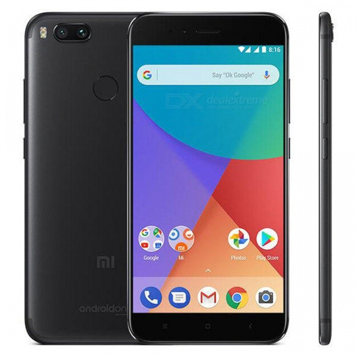 Xiaomi Mi A1 Android 7.1.2 4G Phone w/ 4GB RAM 64GB ROM - BlackAndroid Phones<br>Form  ColorBlackRAM4GBROM64GBBrandXiaomiModelMi A1Quantity1 pieceMaterialMetalShade Of ColorBlackTypeBrand NewPower AdapterEU PlugNetwork Type2G,3G,4GBand Details2G: GSM 850/900/1800/1900MHz  3G: WCDMA 850/900/1900/2100MHz  4G: FDD-LTE B1/B3/B5/B7/B8/B20        TDD-LTE B38/B40Data TransferHSDPA,LTEWLAN Wi-Fi 802.11 a,b,g,n,ac,Dual band Wi-Fi (2.4GHz / 5GHz),Others,WiFi Direct, hotspotSIM Card TypeNano SIMSIM Card Quantity2Network StandbyDual Network StandbyGPSYes,A-GPS,BDS,GLONASSInfrared PortYesBluetooth VersionBluetooth V4.2Operating SystemOthers,Android 7.1.2 (Nougat)CPU ProcessorSnapdragon 625 processor, max 2.0GHz; 14nm FinFET, high performance and power efficiencyCPU Core QuantityOcta-CoreGPUAdreno 506 graphics 650MHzLanguageBahasa Indonesia, Deutsch, English, Espanol(Spanish), Espanol, French, Magyar, Uzbekistan, Polish, Portuguese, Romana, Slovencina, Vietnamese, Turkish, Czech, Russian, Ukrainian, Bulgarian, Hindi, Bengali, Gujarati, Assamese, Tamil, Telugu, Nepali, Thai, Arabic, Persian, Hebrew, Traditional/Simplified ChineseAvailable MemoryN/AMemory CardmicroSDMax. Expansion SupportedUp to 128GB expandable storageSize Range5.5 inches &amp; OverTouch Screen TypeIPSScreen Resolution1920*1080MultitouchOthers,YesScreen Size ( inches)5.5Camera type3 x CamerasCamera PixelOthers,Dual 12 MP (26mm, f/2.2; 50mm, f/2.6), phase detection autofocus, 2x optical zoom, dual-LED (dual tone) flash,Front Camera Pixels5.0 MPVideo Recording Resolution4K Video,Support 1080P Video Recording,Support 720P Video RecordingFlashYesTouch FocusYesOther Camera Features1.25 µm/ 1.0 µm pixel size, geo-tagging, touch focus, face detection, HDR, panoramaTalk Time- hourStandby Time- hourBattery Capacity3080mAh(typ) / 3000mAh(min) mAhBattery ModeNon-removableQuick Charge5V / 2AfeaturesWi-Fi,GPS,FM,BluetoothSensorG-sensor,Proximity,Accelerometer,Fingerprint authentication sensor,Others,Ambient light sensor , Gyro
