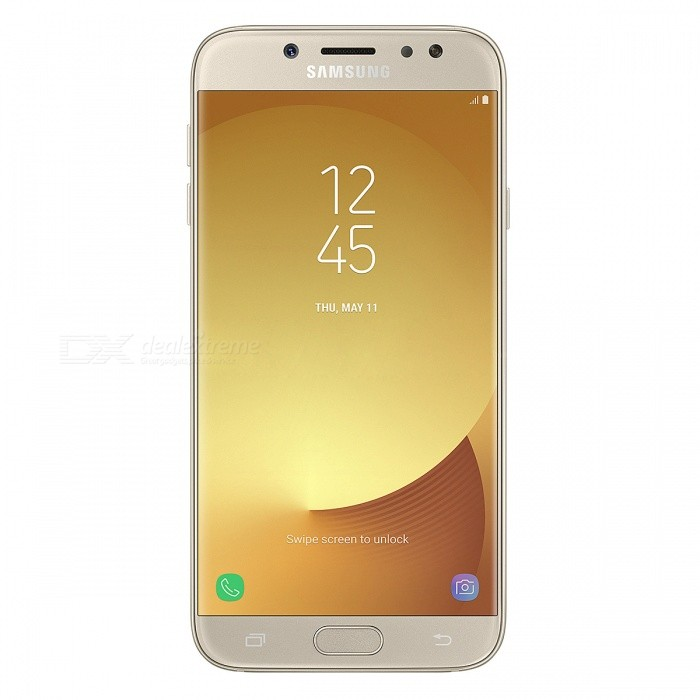 Samsung J730FD J7 2017 Dual SIM Phone with 3GB RAM, 16GB ROM - GoldenAndroid Phones<br>Form  ColorGoldenRAM3GBROM16GBBrandSamsungModelJ730FDQuantity1 pieceMaterialAluminium alloyShade Of ColorGoldTypeBrand NewPower AdapterEU PlugTime of Release2017Network Type2G,3G,4GBand DetailsGSM850/900/1800/1900;  UMTS2100 (B1), UMTS1900 (B2),  UMTS1700/2100 (B4), UMTS850 (B5), UMTS900 (B8); LTE2100 (B1),  LTE1900 (B2), LTE1800 (B3),  LTE1700/2100 (B4), LTE850 (B5), LTE2600 (B7), LTE900 (B8), LTE800 (B20), TD-LTE2300 (B40)Data TransferGPRS,HSDPA,EDGE,LTE,HSUPAWLAN Wi-Fi 802.11 b,g,nSIM Card TypeNano SIMSIM Card Quantity2Network StandbyDual Network StandbyGPSYes,A-GPSNFCYesBluetooth VersionBluetooth V4.1Operating SystemOthers,Google Android 7.1.1 (Nougat)CPU ProcessorSamsung Exynos 7 Octa 7870 (Joshua), 2016, 64 bit, octa-core, 14 nmCPU Core QuantityOcta-CoreGPUARM Mali-T830MP2LanguageNot SpecifyAvailable Memory10GBSize Range5.5 inches &amp; OverTouch Screen TypeYesScreen Resolution1920*1080MultitouchOthers,YesScreen Size ( inches)5.5Camera type2 x CamerasCamera Pixel13.0MPFront Camera Pixels13 MPVideo Recording Resolution1920x1080 pixel, 30 fpsFlashYesAuto FocusPD AFTouch FocusYesOther Camera FunctionsHDR photo, Touch focus, Macro mode, Panorama Photo, Face detection, Face tagging, Smile detection, Face retouchTalk Time24 hoursStandby TimeN/A hourBattery Capacity3600 mAhBattery ModeNon-removablefeaturesWi-Fi,GPS,FM,Bluetooth,NFC,OTGSensorProximity,Compass,Accelerometer,Heart rate,Fingerprint authentication sensor,Others,Hall sensor, Light sensor, GyroscopeWaterproof LevelOthers,YesDust-proof LevelYesI/O InterfaceMicro USB,OTGJAVANoTV TunerNoRadio TunerFMReference Websites== Will this mobile phone work with a certain mobile carrier of yours? ==Packing List1 x Cell Phone1 x Power Adapter1 x USB Charging Cable1 x User Manual<br>