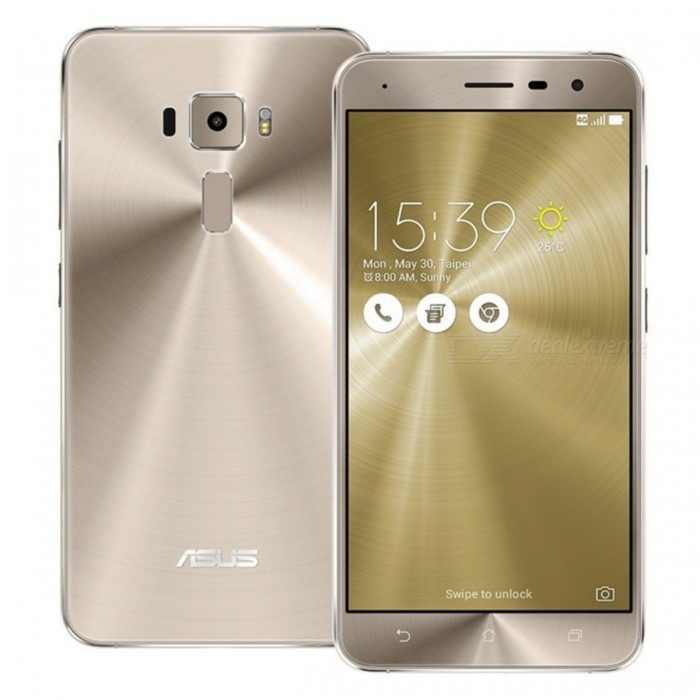Asus ZenFone 3 ZE520KL Dual SIM Phone with 4GB, 64GB - Golden/TW Ver.Android Phones<br>Form  ColorGoldenRAM4GBROM64GBBrandASUSModelZenfone 3 ZE520KLQuantity1 DX.PCM.Model.AttributeModel.UnitMaterialMetal + GlassShade Of ColorGoldTypeBrand NewPower AdapterUS PlugTime of Release2016 AugNetwork Type2G,3G,4GBand DetailsFDD-LTE (Bands 1, 2, 3, 5, 7, 8, 18, 19, 26, 28);TD-LTE (Bands 38, 39, 40, 41);WCDMA (Bands 1, 2, 5, 6, 8, 19);GSM/EDGE (850, 900, 1800, 1900 MHz);Data TransferGPRS,HSDPA,EDGE,LTE,HSUPAWLAN Wi-Fi 802.11 b,g,n,Others,802.11acSIM Card TypeMicro SIM,Nano SIMSIM Card Quantity2Network StandbyDual Network StandbyGPSYesBluetooth VersionBluetooth V4.2Operating SystemOthers,Android 6.0.1CPU ProcessorQualcomm Snapdragon 625 MSM8953, 2016, 64 bitCPU Core QuantityOcta-CoreGPUQualcomm Adreno 506 GPULanguageNot SpecifyAvailable Memory64GBMemory CardSupports MicroSD cardSize Range5.0~5.4 inchesTouch Screen TypeCapacitive ScreenScreen Resolution1920*1080Multitouch10Screen Size ( inches)Others,5.2Camera type2 x CamerasCamera PixelOthers,16MPFront Camera Pixels8.0 DX.PCM.Model.AttributeModel.UnitVideo Recording Resolution3840x2160 pixel, @30fpsFlashYesAuto FocusPD AF, Laser AFTouch FocusYesOther Camera FunctionsGeo-tagging, touch focus, face detection, panorama, HDRTalk TimeN/A DX.PCM.Model.AttributeModel.UnitStandby TimeN/A DX.PCM.Model.AttributeModel.UnitBattery Capacity2650 DX.PCM.Model.AttributeModel.UnitBattery ModeNon-removablefeaturesWi-Fi,GPS,FM,BluetoothSensorProximity,Fingerprint authentication sensorWaterproof LevelOthers,N/AI/O InterfaceUSB Type-cReference Websites== Will this mobile phone work with a certain mobile carrier of yours? ==Packing List1 x Cell Phone1 x US Plug Power Adapter1 x USB Charging Cable1 x User Manual<br>