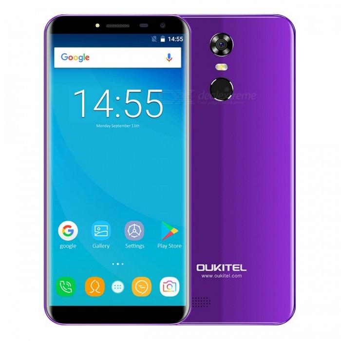 OUKITEL C8 5.5 HD 18:9 Quad-core 3G Phone with 2GB RAM 16GB ROM - PurpleAndroid Phones<br>Form  ColorPurpleRAM2GBROM16GBBrandOUKITELModelC8Quantity1 pieceMaterialPlastic+Matt LaminationShade Of ColorPurpleTypeBrand NewPower AdapterEU PlugHousing Case MaterialPlastic+Matt LaminationNetwork Type2G,3GBand Details2G: GSM 850/900/1800/1900MHz; 3G: WCDMA 900/2100MHz;Data TransferGPRSWLAN Wi-Fi 802.11 b,g,nSIM Card TypeMicro SIM,Nano SIMSIM Card Quantity2Network StandbyDual Network StandbyGPSYesNFCNoInfrared PortNoBluetooth VersionBluetooth V4.0Operating SystemOthers,Android 7.0CPU ProcessorMT6580A 1.3GHzCPU Core QuantityQuad-CoreGPUMali400 MP2LanguageAfrikaans, Indonesian, Malay, Czech, Danish, Germany(German), Germany (Austria), English(United Kingdom), English(United States), Spanish(Espana), Spanish(Estados Unidos), Filipino, French, Croatian, Zulu, Italian, Swahili, Latviesu, Lithuanian, Hungarian, Dutch, Norsk bokmal, Polish, Portuguese(Brasil), Portuguese(Portugal), Romanian, Rumantsch, Slovak, Slovenscina, Finnish, Swedish, Vietnamese, Turkish, Russian, Greek, Hebrew, Arabic, Hindi, Thai, Korean, Simplified Chinese, Traditional ChineseAvailable Memory13.6GBMemory CardMicro SDMax. Expansion Supported32GBSize Range5.5 inches &amp; OverTouch Screen TypeIPSScreen ResolutionOthers,1280*640Multitouch5Screen Size ( inches)5.5Screen Edge2D Curved EdgeCamera type2 x CamerasCamera Pixel13.0MPFront Camera Pixels5.0 MPFlashYesAuto FocusYesTouch FocusYesTalk Time8 hourStandby Time3 daysBattery Capacity3000 mAhBattery ModeReplacementfeaturesWi-Fi,GPS,FM,BluetoothSensorFingerprint authentication sensorWaterproof LevelIPX0 (Not Protected)Shock-proofNoI/O Interface3.5mmSoftwarePlay Store, E-mail, Gmail, Calculator, File manager, Clock, Calendar, Gallery, Video Player, Music, Sound Recorder, FM RadioFormat Supportedmp4 m4v 3gpp wmv mkv aviJAVANoTV TunerNoRadio TunerFMReference Websites== Will this mobile phone work with a certain mobile carrier of yours? ==Packing List1 x Phone1 x E