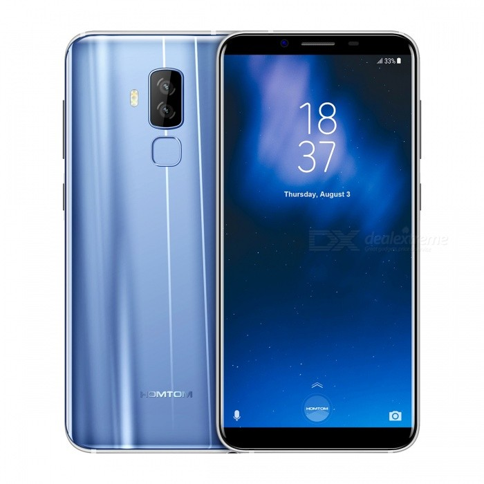 HOMTOM S8 Android 7.0 4G 5.7 IPS Phone with 4GB RAM, 64GB ROM - Blue (EU Plug)Android Phones<br>Form  ColorBlueRAM4GBROM64GBBrandOthers,HOMTOMModelS8Quantity1 pieceMaterialPlasticShade Of ColorBlueTypeBrand NewPower AdapterEU PlugHousing Case MaterialPlasticTime of Release2017-08-28Network Type2G,3G,4GBand Details2G:GSM850/900/1800/1900MHz,3G:WCDMA900/2100MHz,4G:FDD-LTE B1(2100)\B3(1800)\B7(2600)\B20(800)MHzData TransferGPRS,EDGE,LTEWLAN Wi-Fi 802.11 b,g,nSIM Card TypeMicro SIM,Nano SIMSIM Card Quantity2Network StandbyDual Network StandbyGPSYes,A-GPSNFCNoInfrared PortYesBluetooth VersionBluetooth V4.0Operating SystemAndroid 7.xCPU ProcessorMTK6750T 1.5GHzCPU Core QuantityOcta-CoreLanguageArabic(Egypt)/Chinese Simplified /Chinese Tradition/Chinese/Dutch (Netherlands)/English/French/German/Italian/Portuguese/Spanish/Bengali/Croatian/Czech/Danish/Greek/Hebrew/Hindi/Hungarian/Indonesian/Japanese/Korean/Malay/Perisan/Polish/Romanian/Russian/Serbian/Swedish/Thai/Turkey/Urdu/Vietnamese/Catalan/Latviesu/Lithuanian/Norwegian/slovencina/Slovenian/bulgarian/Ukrainian/Filipino/Finnish/Burmese(Paduak)/Khmer/Estonian/Armenian/KazakhAvailable Memory55GBMemory CardYesMax. Expansion Supported128GBSize Range5.5 inches &amp; OverTouch Screen TypeIPSScreen ResolutionOthers,720*1440Multitouch5Screen Size ( inches)5.7Screen Edge2.5D Curved EdgeCamera type3 x CamerasCamera PixelOthers,16MP+5.0MPFront Camera Pixels13 MPFlashYesAuto FocusYesTouch FocusYesTalk Time15 hoursStandby Time360 hoursBattery Capacity3400 mAhBattery ModeNon-removableQuick Charge5V/2AfeaturesWi-Fi,GPS,FM,Bluetooth,OTGSensorG-sensor,Proximity,Others,Range sensor /photosensor /gyroscopeWaterproof LevelIPX0 (Not Protected)Dust-proof LevelNoShock-proofNoI/O InterfaceMicro USB,3.5mm,SIM Slot,OTGSoftwarePlay Store, E-mail, Calculator, File manager, Clock, Calendar, Gallery, Video Player, Music, Sound Recorder, FM Radio, etc.Format SupportedMP3/AAC/AAC+/eAAC+/WMA/RA/MP4/3GP/3GPP/RM/RMVB/AVI/WMV/MOVTV TunerNoRadio TunerFMWire