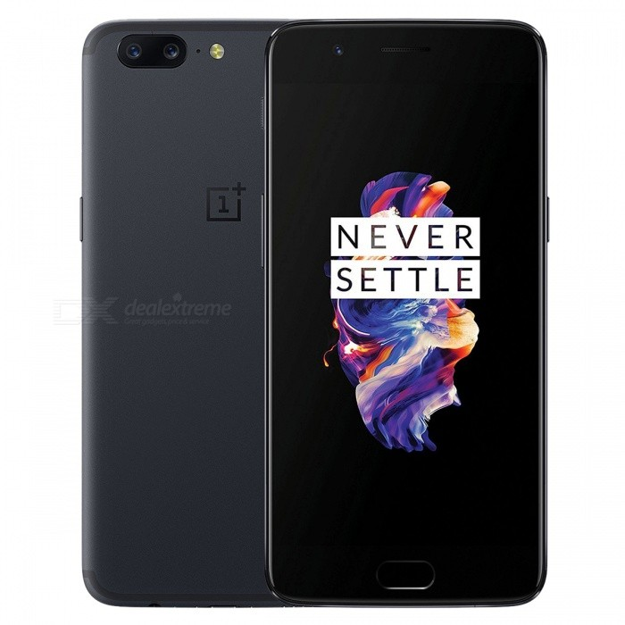 OnePlus 5 A5000 5.5 Dual SIM Phone w/ 8GB RAM, 128GB ROM, Grey, 3300mAh Battery (US Plug)Android Phones<br>Form  ColorGreyRAM8GBROM128GBBrandOnePlusModel5 A5000Quantity1 pieceMaterialGlass + MetalShade Of ColorGrayTypeBrand NewPower AdapterUS PlugTime of Release2017Network Type2G,3G,4GBand DetailsGSM850/900/1800/1900;  UMTS2100 (B1), UMTS1900 (B2), UMTS1700/2100 (B4), UMTS850 (B5), UMTS900 (B8); CDMA800 (BC0), TD-SCDMA2000,  TD-SCDMA1900; LTE2100 (B1), LTE1900 (B2), LTE1800 (B3), LTE1700/2100 (B4), LTE850 (B5), LTE2600 (B7), LTE900 (B8),  LTE700 (B12), LTE700 (B17), LTE800 (B18),  LTE800 (B19),  LTE800 (B20),  LTE1900 (B25),  LTE850 (B26), LTE700 (B28), LTE700 (B29), LTE2300 (B30); TD-LTE2600 (B38), TD-LTE2300 (B40), LTE1700/2100 (B66)Data TransferGPRS,HSDPA,EDGE,LTE,HSUPAWLAN Wi-Fi 802.11 a,b,g,n,ac,Others,DLNA, Wi-Fi Tethering, Wi-Fi Direct, MiracastSIM Card TypeNano SIMSIM Card Quantity2Network StandbyDual Network StandbyGPSYes,A-GPSNFCYesBluetooth VersionOthers,Bluetooth V5.0Operating SystemOthers,Google Android 7.1.1 (Nougat)CPU ProcessorQualcomm Snapdragon 835 MSM8998, 2017, 64 bit, octa-core, 32 Kbyte I-Cache, 32 Kbyte D-Cache, 2048 Kbyte L2, 10 nmCPU Core QuantityOcta-CoreGPUQualcomm Adreno 540LanguageNot SpecifyAvailable Memory113.5GBSize Range5.5 inches &amp; OverTouch Screen TypeYesScreen Resolution1920*1080MultitouchOthers,YesScreen Size ( inches)5.5Camera type3 x CamerasCamera PixelOthers,23MP + 16MPFront Camera Pixels16 MPVideo Recording Resolution3840x2160 pixel, 30 fps;<br>1920x1080 pixel, 30 fpsFlashYesAuto FocusCD AF; PD AF; MFTouch FocusYesOther Camera FunctionsEIS, EIS (Video), OIS, OIS (Video), HDR photo, HDR video, Red-eye reduction, Slow motion video, Burst mode, Touch focus, Macro mode, Panorama Photo, Face detection, Smile detectionTalk TimeN/A hourStandby TimeN/A hourBattery Capacity3300 mAhBattery ModeNon-removablefeaturesWi-Fi,GPS,Bluetooth,NFC,OTGSensorProximity,Compass,Accelerometer,Fingerprint authentication sensor,Others,Hall sensor, Light sensor, GyroscopeWaterproof LevelOthers,YesDust-proof LevelYesI/O Interface3.5mm,USB Type-cSoftwareGoogle Play, EtcJAVANoTV TunerNoRadio TunerNoReference Websites== Will this mobile phone work with a certain mobile carrier of yours? ==Packing List1 x Cell Phone1 x US Plug Power Adapter1 x USB Charging Cable1 x User Manual<br>