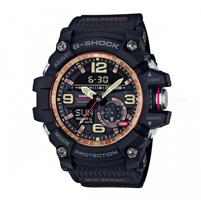 Casio G-Shock GG-1000RG-1A 200-meter Water Resistance MASTER OF G Series Sport Compass Watch - BlackSport Watches<br>Form  ColorBlackModelGG-1000RG-1AQuantity1 pieceShade Of ColorBlackCasing MaterialResinWristband MaterialResinSuitable forAdultsGenderUnisexStyleWrist WatchTypeCasual watchesDisplayAnalog + DigitalBacklightLED backlight (Super Illuminator)MovementDigitalDisplay Format12/24 hour time formatWater ResistantOthers,200-meter water resistanceDial Diameter5.62 cmDial Thickness1.73 cmWristband Length22 cmBand Width2.5 cmBattery2 x SR927WPacking List1 x GG-1000RG-1A Watch<br>