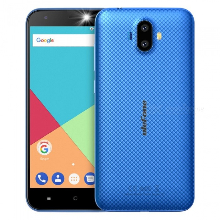Ulefone S7 Android 7.0 5.0 HD Quad-core Dual Sim Dual Standby 3G Phone with 2GB RAM, 16GB ROM - BlueAndroid Phones<br>Form  ColorBlueRAM2GBROM16GBBrandUlefoneModelS7Quantity1 pieceMaterialPCShade Of ColorBlueTypeBrand NewPower AdapterEU PlugHousing Case MaterialPCTime of Release2017.11.25Network Type2G,3GBand DetailsGSM:850/900/1800/1900(B5/8/3/2.WCDMA: 2100/900(B1/8Data TransferGPRS,EDGEWLAN Wi-Fi 802.11 b,g,nSIM Card TypeStandard SIM,Micro SIMSIM Card Quantity2Network StandbyDual Network StandbyGPSYes,A-GPSNFCNoInfrared PortNoBluetooth VersionBluetooth V4.0Operating SystemAndroid 7.xCPU ProcessorQuad-core 32-bit 1.3GHzCPU Core QuantityQuad-CoreGPUMali-400LanguageIndonesian, Malay, Catalan, Czech, Danish, German, Estonian, English, Spanish, Filipino, French, Croatian, Italian, Latvian, Lithuanian, Hungarian, Dutch, Norwegian, Polish, Portuguese, Romanian, Slovak, Finnish, Swedish, Vietnamese, Greek, Turkish, Bulgarian, Russian, Serb, Ukrainian, Armenian, Hebrew, Urdu, Arabic, Persian, Hindi, Bengali, Thai, Korean, Burmese, Japanese, Simplified Chinese, Traditional ChineseAvailable Memory11GBMemory CardTF CardMax. Expansion Supported128GBSize Range5.0~5.4 inchesTouch Screen TypeIPSScreen Resolution1280*720Multitouch2Screen Size ( inches)5.0Camera type2 x CamerasCamera PixelOthers,(8.0MP+5.0MP) Dual rear cameraFront Camera Pixels5.0 MPFlashYesTouch FocusYesTalk Time7 hoursStandby Time80 hoursBattery Capacity2500 mAhBattery ModeReplacementfeaturesWi-Fi,GPS,BluetoothSensorG-sensor,GestureWaterproof LevelIPX0 (Not Protected)I/O Interface3.5mm,Micro USB v2.0SoftwareGoogle Normal SoftwareFormat SupportedMIDI.MP3.AAC. ARM. AWB. WAV.FLAC.3GPP.MPEG-4.H.264.WMV9.VP9TV TunerNoRadio TunerFMWireless ChargingNoOther Features5.0 Inch+ HD+ Dual Camera 8MP+5MP / 5MP+ MTK 6580  Quad-core CPU+ 3G Smartphone Rear Led Flash + EU Plug+Rear LED Flash+Gesture+Ram 2G+Rom16GReference Websites== Will this mobile phone work with a certain mobile carrier of yours? ==CertificationCE.MSDSPacking List1 x Phone 1 x Data cable (100cm)1 x TPU protective case1 x AC power charger adapter ( 100~240V / EU plug) 1 x Warranty card1 x Multi-language user manual<br>