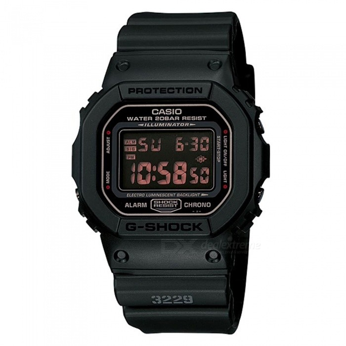 Casio G-Shock DW-5600MS-1 Mens Digital Watch - BlackSport Watches<br>Form  ColorBlackModelDW-5600MS-1Quantity1 pieceShade Of ColorBlackCasing MaterialResinWristband MaterialResinSuitable forAdultsGenderMenStyleWrist WatchTypeCasual watchesDisplayDigitalBacklightElectro-luminescent backlightMovementDigitalDisplay Format12/24 hour time formatWater ResistantOthers,200-meter water resistanceDial Diameter4.89 cmDial Thickness1.34 cmWristband Length23 cmBand Width2.5 cmBattery1 x CR2016Packing List1 x DW-5600MS-1 Watch<br>