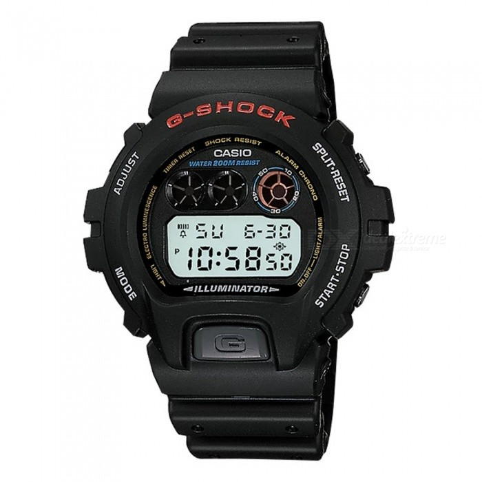 Casio G-Shock DW-6900-1VH 200M Waterproof Mens Digital Watch - BlackSport Watches<br>Form  ColorBlackModelDW-6900-1VHQuantity1 pieceShade Of ColorBlackCasing MaterialResinWristband MaterialResinSuitable forAdultsGenderMenStyleWrist WatchTypeCasual watchesDisplayDigitalBacklightElectro-luminescent backlightMovementDigitalDisplay Format12/24 hour time formatWater ResistantOthers,200-meter water resistanceDial Diameter5.32 cmDial Thickness1.63 cmWristband Length23 cmBand Width2.5 cmBattery1 x CR2016Packing List1 x DW-6900-1VH  Watch<br>