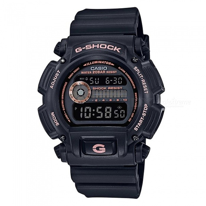 Casio G-Shock DW-9052GBX-1A4 Standard Series Mens Digital Watch - Black + Rose GoldSport Watches<br>Form  ColorBlack + Rose GoldModelDW-9052GBX-1A4Quantity1 pieceShade Of ColorBlackCasing MaterialResinWristband MaterialResinSuitable forAdultsGenderMenStyleWrist WatchTypeCasual watchesDisplayDigitalBacklightElectro-luminescent backlightMovementDigitalDisplay Format12/24 hour time formatWater ResistantOthers,200-meter water resistanceDial Diameter4.85 cmDial Thickness1.47 cmWristband Length23 cmBand Width2.5 cmBattery1 x CR2016Packing List1 x DW-9052GBX-1A4 Watch<br>