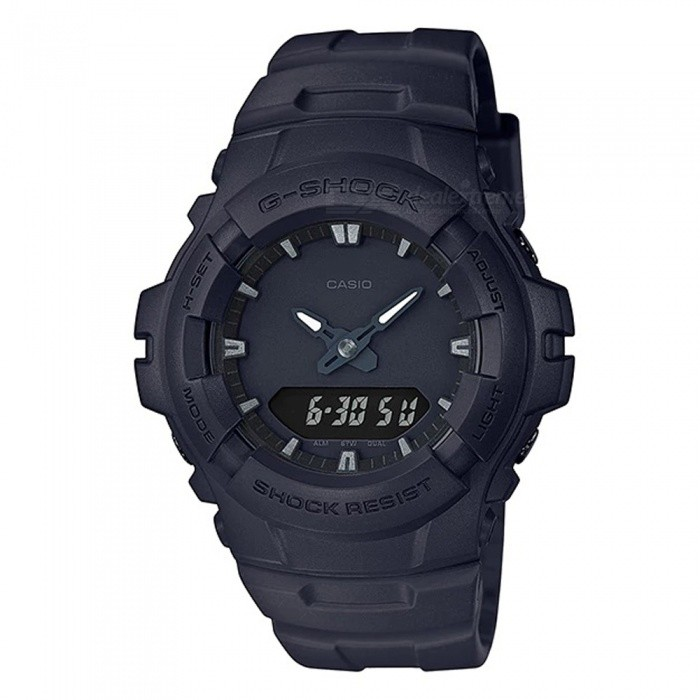 Casio G-Shock G-100BB-1A 200M Waterproof Mens Wrist Watch - BlackSport Watches<br>Form  ColorBlackModelG-100BB-1AQuantity1 pieceShade Of ColorBlackCasing MaterialResinWristband MaterialResinSuitable forAdultsGenderMenStyleWrist WatchTypeCasual watchesDisplayAnalog + DigitalBacklightElectro-luminescent backlightMovementDigitalDisplay Format12/24 hour time formatWater ResistantOthers,200-meter water resistanceDial Diameter4.96 cmDial Thickness1.57 cmWristband Length23 cmBand Width2.5 cmBattery1 x CR2016Packing List1 x G-100BB-1A Watch<br>