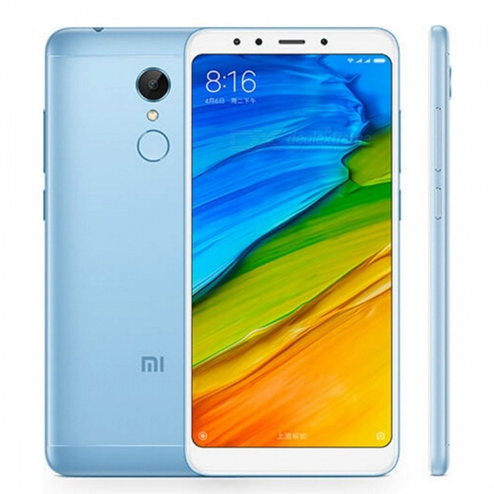 Xiaomi Redmi 5 Plus 5.99 Inches 18:9 Full Screen Phone Snapdragon 625 Octa-Core 4000mAh 3GB RAM 32GB ROM - BlueAndroid Phones<br>Form  ColorBlueRAM3GBROM32GBBrandXiaomiModelXiaomi Redmi 5 Plus (3GB+32GB)Quantity1 pieceMaterialFront glass, aluminum bodyShade Of ColorBlueTypeBrand NewPower AdapterUS PlugNetwork Type2G,3G,4GBand Details2G: GSM 850/900/1800/1900MHz         CDMA 1X BC0  3G: WCDMA 850/900/1900/2100MHz         CDMA 2000 BC0         TDS-CDMA B34/B39  4G: FDD-LTE B1/B3/B5/B7/B8         TDD-LTE B34/B38/B39/B40/B41Data TransferGPRS,LTE,HSUPAWLAN Wi-Fi 802.11 a,b,g,n,Dual band Wi-Fi (2.4GHz / 5GHz),Others,WIFI Display, WiFi DirectSIM Card TypeNano SIMSIM Card Quantity2Network StandbyDual Network StandbyGPSYes,A-GPS,BDS,GLONASSInfrared PortYesBluetooth VersionBluetooth V4.2,Others,Bluetooth HIDOperating SystemOthers,Android 7.1.2 (Nougat)CPU ProcessorQualcomm MSM8953 Snapdragon 625 Octa-core 2.0 GHz Cortex-A53CPU Core QuantityOcta-CoreGPUAdreno 506LanguageThis phone supports multi-language.Available MemoryN/AMemory CardMicro-SDMax. Expansion Supportedup to 128GBSize Range5.5 inches &amp; OverTouch Screen TypeOthers,IPS LCD capacitive touchscreen, 16M colorsScreen ResolutionOthers,1080 x 2160 pixels, 18:9 ratio (~403 ppi density)MultitouchOthers,YesScreen Size ( inches)Others,5.99 inches, 92.6 cm2 (~77.4% screen-to-body ratio)Camera type2 x CamerasCamera PixelOthers,12 MP (f/2.2, 1.25 m), phase detection autofocus, dual-LED dual-tone flashFront Camera Pixels5.0 MPVideo Recording Resolution1080p video recording, 30fps<br>720p video recording, 30fpsFlashYesAuto FocusYesTouch FocusYesOther Camera FunctionsGeo-tagging, touch focus, face/smile detection, HDR, panoramaTalk TimeN/A hourStandby TimeN/A hourBattery Capacity4000 mAhBattery ModeNon-removableQuick Charge5V/2AfeaturesWi-Fi,GPS,BluetoothSensorG-sensor,Proximity,Compass,Accelerometer,Fingerprint authentication sensor,Others,gyroWaterproof LevelIPX0 (Not Protected)I/O InterfaceMicro USB,3.5mmReference Websites== Will this mobile phone work with a certain mobile carrier of yours? ==ColorBluePacking List1 x Xiaomi Redmi 5 Plus Smartphone 1 x USB Cable 1 x Eject Pin 1 x Protective Case 1 x US Charger<br>