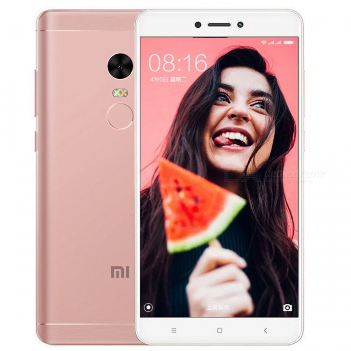 Xiaomi Redmi Note 4X Mobile Phone with 3GB RAM 16GB ROM - PinkAndroid Phones<br>ColorPinkBrandXiaomiModelRedmi Note 4XQuantity1 setMaterialMetal BodyShade Of ColorPinkTypeBrand NewPower AdapterOthers,N/AHousing Case MaterialMetalTime of Release2017-2Network Type2G,3G,4GBand Details2G bands: GSM 850 / 900 / 1800 / 1900 - SIM 1 &amp; SIM 2; CDMA 800 &amp; TD-SCDMA;  3G bands: HSDPA 850 / 900 / 1900 / 2100;  4G bands: LTE band 1(2100), 3(1800), 5(850), 7(2600), 38(2600), 39(1900), 40(2300), 41(2500) - Snapdragon model, LTE band 1(2100), 3(1800), 5(850), 7(2600), 8(900), 38(2600), 39(1900), 40(2300), 41(2500) - Mediatek modelData TransferGPRS,EDGE,LTEWLAN Wi-Fi 802.11 a,b,g,nSIM Card TypeMicro SIM,Nano SIMSIM Card Quantity2Network StandbyDual Network StandbyGPSYes,A-GPSNFCNoBluetooth VersionBluetooth V4.2Operating SystemAndroid 6.0CPU ProcessorOcta-core 2.0 GHz Cortex-A53CPU Core QuantityOcta-CoreGPUAdreno 506Language-Available Memory16GB ROMMemory CardmicroSDMax. Expansion Supportedup to 256 GB (uses SIM 2 slot)Size Range5.5 inches &amp; OverTouch Screen TypeYesScreen Resolution1920*1080MultitouchOthers,YesScreen Size ( inches)5.5Camera type2 x CamerasCamera Pixel13.0MPFront Camera Pixels5.0 MPFlashYesTalk Time- hourStandby Time- hourBattery Capacity4100 mAhfeaturesWi-Fi,GPS,BluetoothSensorProximity,Compass,Accelerometer,Fingerprint authentication sensor,Others,GyroWaterproof LevelIPX0 (Not Protected)I/O InterfaceMicro USB,3.5mmReference Websites== Will this mobile phone work with a certain mobile carrier of yours? ==Packing List1 x Cell Phone1 x Power Adapter1 x USB Cable1 x User Manual<br>