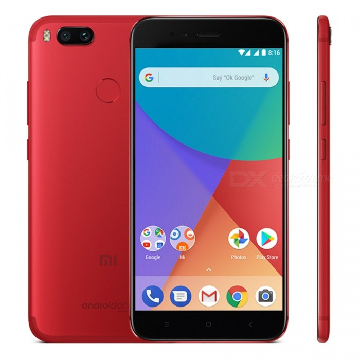 Xiaomi Mi A1 Mobile Phone with 4GB RAM 64GB ROM - RedAndroid Phones<br>ColorRedBrandXiaomiModelMi A1Quantity1 setMaterialAluminum frameShade Of ColorRedTypeBrand NewPower AdapterOthers,N/AHousing Case MaterialAluminumTime of Release2017Network Type2G,3G,4GBand Details2G bands: GSM 850 / 900 / 1800 / 1900 - SIM 1 &amp; SIM 2,  3G bands: HSDPA 850 / 900 / 1900 / 2100,  4G bands: LTE band 1(2100), 3(1800), 5(850), 7(2600), 8(900), 20(800), 38(2600), 40(2300)Data TransferGPRS,EDGEWLAN Wi-Fi 802.11 a,b,g,n,acSIM Card TypeNano SIMSIM Card Quantity2Network StandbyDual Network StandbyGPSYes,A-GPSInfrared PortYesBluetooth VersionBluetooth V4.2Operating SystemOthers,Android 7.1.2 (Nougat)CPU ProcessorQualcomm MSM8953 Snapdragon 625, Octa-core 2.0 GHz Cortex-A53CPU Core QuantityOcta-CoreGPUAdreno 506Language-Available Memory64GB ROMMemory CardSupports microSD cardMax. Expansion Supportedup to 128 GB (uses SIM 2 slot)Size Range5.5 inches &amp; OverTouch Screen TypeCapacitive ScreenScreen Resolution1920*1080MultitouchOthers,YesScreen Size ( inches)5.5Camera type3 x CamerasCamera PixelOthers,Dual 12 MP (26mm, f/2.2; 50mm, f/2.6), phase detection autofocus, 2x optical zoom, dual-LED (dual tone) flash,Front Camera Pixels5.0 MPVideo Recording Resolution4K Video,Support 1080P Video Recording,Support 720P Video RecordingFlashYesTouch FocusYesOther Camera Features1.25 µm/ 1.0 µm pixel size, geo-tagging, touch focus, face detection, HDR, panoramaTalk Time- hourStandby Time- hourBattery Capacity3080 mAhfeaturesWi-Fi,GPS,BluetoothSensorProximity,Fingerprint authentication sensorWaterproof LevelIPX0 (Not Protected)I/O Interface3.5mm,USB Type-cReference Websites== Will this mobile phone work with a certain mobile carrier of yours? ==Packing List1 x Cell Phone1 x Power Adapter1 x USB Cable1 x User Manual<br>