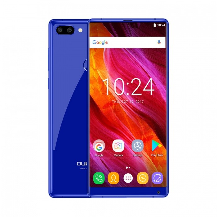 OUKITEL MIX 2 5.99FHD Octa-core 18:9 4G Phone with 6GB RAM 64GB ROM - BlueAndroid Phones<br>Form  ColorBlueRAM6GBROM64GBBrandOUKITELModelMIX 2Quantity1 pieceMaterialKirsiteShade Of ColorBlueTypeBrand NewPower AdapterEU PlugHousing Case MaterialPolyglia glassNetwork Type2G,3G,4GBand Details2G: GSM 850/900/1800/1900MHz; 3G: WCDMA 900/2100MHz; 4G: FDD-LTE Band 1/3/7/20(B1:2100, B3:1800, B7:2600, B20:800MHz)Data TransferGPRS,EDGEWLAN Wi-Fi 802.11 a,b,g,nSIM Card TypeNano SIMSIM Card Quantity2Network StandbyDual Network StandbyGPSYes,A-GPS,GLONASSNFCNoInfrared PortNoBluetooth VersionBluetooth V4.2Operating SystemOthers,Android 7.0CPU ProcessorMT6757 2.39GHzCPU Core QuantityOcta-CoreGPUARM Mali-T880 MP2LanguageAfrikaans, Indonesian, Malay, Czech, Danish, Germany(German), Germany (Austria), English(United Kingdom), English(United States), Spanish(Espana), Spanish(Estados Unidos), Filipino, French, Croatian, Zulu, Italian, Swahili, Latviesu, Lithuanian, Hungarian, Dutch, Norsk bokmal, Polish, Portuguese(Brasil), Portuguese(Portugal), Romanian, Rumantsch, Slovak, Slovenscina, Finnish, Swedish, Vietnamese, Turkish, Russian, Greek, Hebrew, Arabic, Hindi, Thai, Korean, Simplified Chinese, Traditional Chinese, japaneseAvailable Memory54GBMemory CardMicro SDMax. Expansion Supported512GBSize Range5.5 inches &amp; OverTouch Screen TypeSLCDScreen ResolutionOthers,2160*1080Multitouch10Screen Size ( inches)Others,5.99Screen Edge2.5D Curved EdgeCamera type3 x CamerasCamera PixelOthers,21MP+2MPFront Camera Pixels13 MPVideo Recording Resolution1080pFlashYesAuto FocusyesTouch FocusYesTalk Time16 hourStandby Time80 hourBattery Capacity4080 mAhBattery ModeNon-removableQuick Charge9V/2AfeaturesWi-Fi,GPS,FM,Bluetooth,OTGSensorG-sensor,Fingerprint authentication sensor,Others,GYRO SENSOR,Gravity Induction,Distance Sensor,light sensorWaterproof LevelIPX0 (Not Protected)Shock-proofNoI/O Interface3.5mm,OTGSoftwarePlay Store, E-mail, Gmail, Calculator, File manager, Clock, Calendar, Gallery, Video