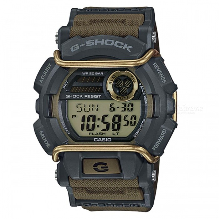Casio G-Shock GD-400-9 Standard Digital Watch - Army GreenSport Watches<br>ColorArmy GreenModelGD-400-9Quantity1 pieceShade Of ColorGreenCasing MaterialResinWristband MaterialResinSuitable forAdultsGenderMenStyleWrist WatchTypeFashion watchesDisplayDigitalMovementDigitalDisplay Format12/24 hour time formatWater ResistantOthers,200-meter water resistanceDial Diameter5.5 cmDial Thickness1.66 cmWristband Length22 cmBand Width2.2 cmBattery1 x CR2016Packing List1 x Watch1 x Guide<br>