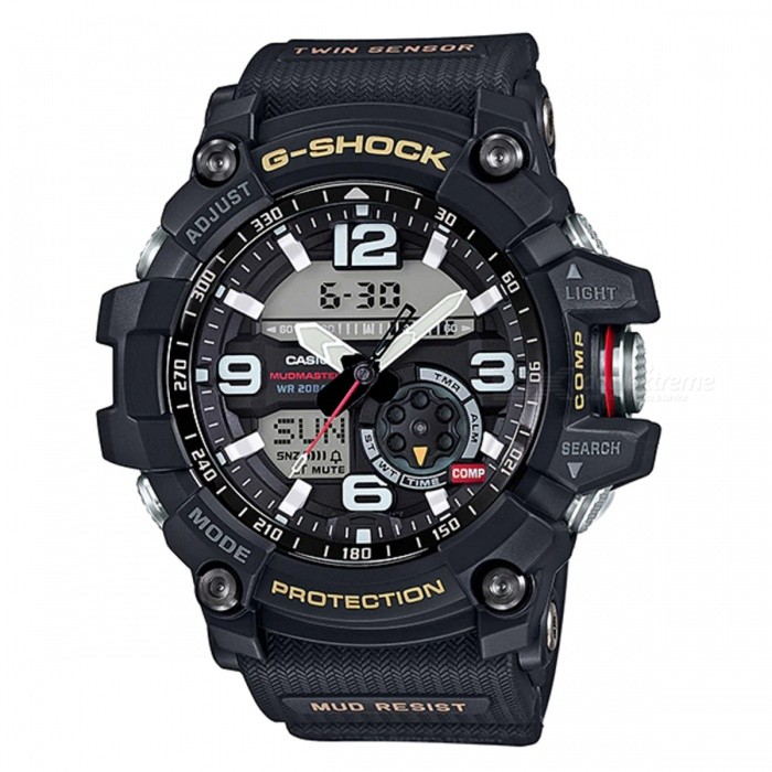 Casio G-Shock GG-1000-1A Mudmaster Mens Watch - BlackSport Watches<br>ColorBlackModelGG-1000-1AQuantity1 pieceShade Of ColorBlackCasing MaterialResinWristband MaterialResinSuitable forAdultsGenderMenStyleWrist WatchTypeFashion watchesDisplayAnalog + DigitalMovementDigitalDisplay Format12/24 hour time formatWater ResistantOthers,200-meter water resistanceDial Diameter5.62 cmDial Thickness1.73 cmWristband Length22 cmBand Width2.2 cmBattery2 ? SR927WPacking List1 x Watch1 x Guide<br>
