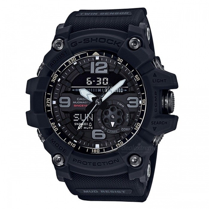 Casio G-Shock GG-1035A-1A 35th Anniversary Mudmaster Series Watch - Big Band BlackSport Watches<br>ColorBlackModelGG-1035A-1AQuantity1 pieceShade Of ColorBlackCasing MaterialResinWristband MaterialResinSuitable forAdultsGenderMenStyleWrist WatchTypeFashion watchesDisplayAnalog + DigitalMovementDigitalDisplay Format12/24 hour time formatWater ResistantOthers,200-meter water resistanceDial Diameter5.62 cmDial Thickness1.73 cmWristband Length22 cmBand Width2.5 cmBattery2 ? SR927WPacking List1 x Watch1 x Guide<br>