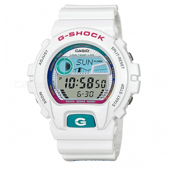 Casio G-Shock GLX-6900-7 G-LIDE Black Moon &amp; Tide Phase Watch - WhiteSport Watches<br>ColorWhiteModelGLX-6900-7Quantity1 pieceShade Of ColorWhiteCasing MaterialResinWristband MaterialResinSuitable forAdultsGenderMenStyleWrist WatchTypeFashion watchesDisplayDigitalMovementDigitalDisplay Format12/24 hour time formatWater ResistantOthers,200-meter water resistanceDial Diameter5.32 cmDial Thickness1.77 cmWristband Length22 cmBand Width2.2 cmBattery1 x CR2025Packing List1 x Watch1 x Guide<br>