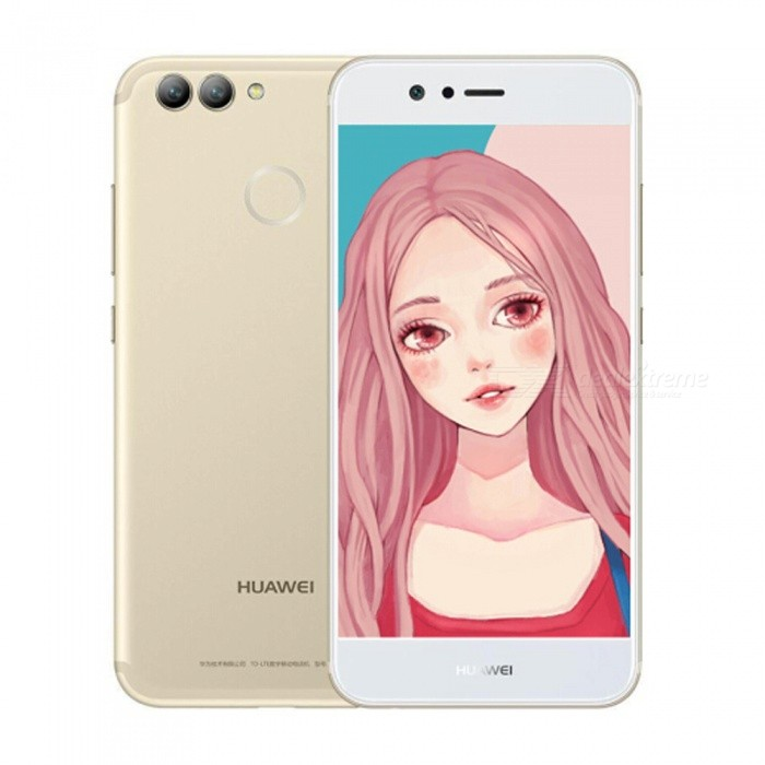 Huawei Nova2 Android Dual SIM Octa-Core 4G 5.0 Phone w/ 4GB RAM, 64GB ROM - GoldenAndroid Phones<br>ColorGoldenRAM4GBROM64GBBrandHUAWEIModelNova2Quantity1 setMaterialMetalShade Of ColorGoldTypeBrand NewPower AdapterUS PlugHousing Case MaterialMetalNetwork Type2G,3G,4GBand DetailsGSM:B2/B3/B5/B8      WCDMA:B1/B2/B5/B8        TDD-LTE : B38/B39/B40/B41     FDD-LTE : B1/B3/B5Data TransferGPRSWLAN Wi-Fi 802.11 b,g,nSIM Card TypeNano SIMSIM Card Quantity2Network StandbyDual Network StandbyGPSYesNFCNoInfrared PortNoBluetooth VersionBluetooth V4.2Operating SystemOthers,Android 7.0CPU ProcessorKirin 659 Octa-Core   1.7GHzCPU Core QuantityOcta-CoreGPUMaliT830-MP2LanguageRussian,German,Spanish,Polish,Turkish,English,N ......Available Memory58GBMemory CardSupport TF cardMax. Expansion Supported128GBSize Range5.0~5.4 inchesTouch Screen TypeIPSScreen Resolution1920*1080Screen Size ( inches)5.0Camera type3 x CamerasCamera PixelOthers,8.0MP+12MPFront Camera Pixels20 MPFlashYesTalk Time20 hoursStandby Time60 hoursBattery Capacity2950 mAhBattery ModeNon-removablefeaturesWi-Fi,GPS,BluetoothSensorG-sensor,Proximity,CompassWaterproof LevelIPX0 (Not Protected)Dust-proof LevelNoShock-proofNoI/O InterfaceUSB Type-cSoftwareFacebook, Twitter, Google browser, Google mapFormat Supportedmp3 , ogg , amr , aac , flac , wav , midi,3gp , 3g2 , mp4 , mkv , mov , webm , aviJAVANoTV TunerNoRadio TunerNoWireless ChargingNoOther Features5.0  IPS + Dual Network Standby + Android7.0 + 4GB RAM + 64GB ROM + Wi-Fi + GPS  +  20.0MP Front camera+ 12.0MP Rear camera + 2950mAh battery + Octa-CoreReference Websites== Will this mobile phone work with a certain mobile carrier of yours? ==Packing List1 x Cell phone1 x US Plug Power adapter1 x User manual1 x Warranty manual<br>